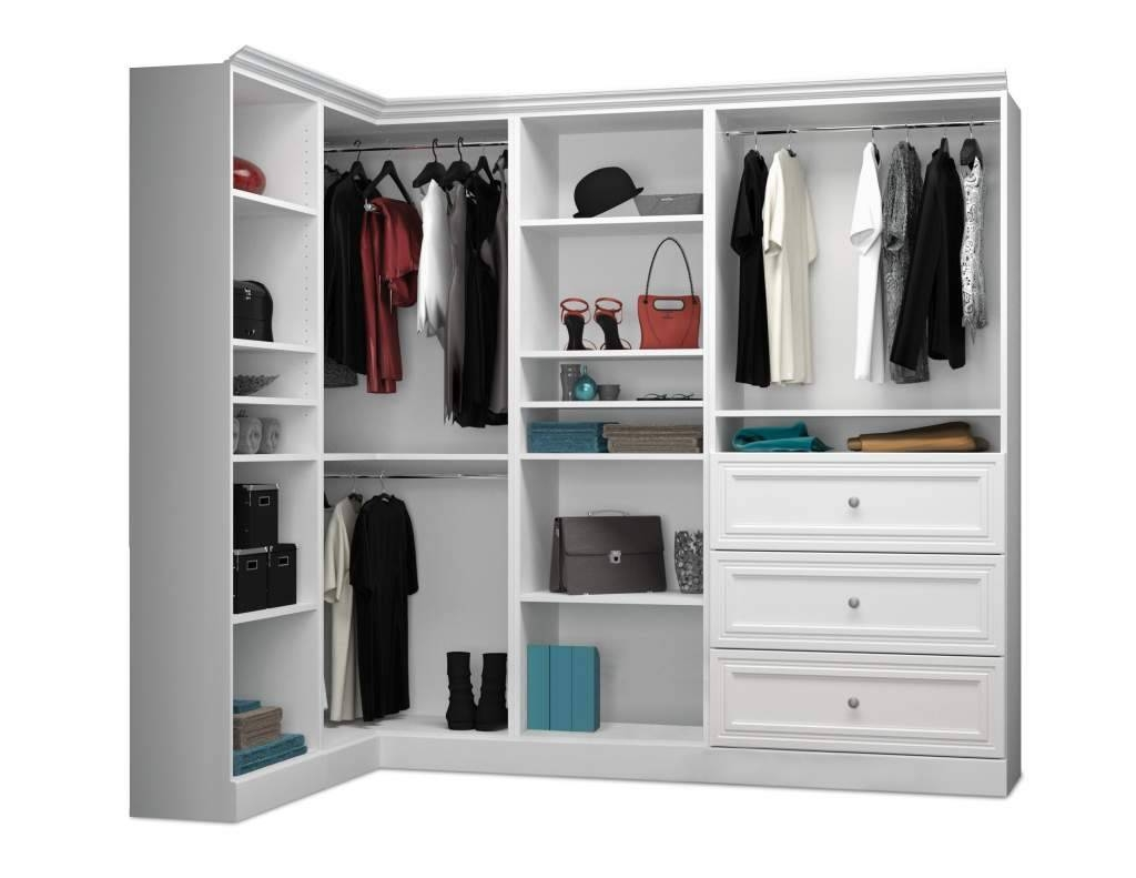 Small Corner Wardrobe. With Single Bed Equipped Storage Drawers intended for White Corner Wardrobes Units (Image 15 of 15)