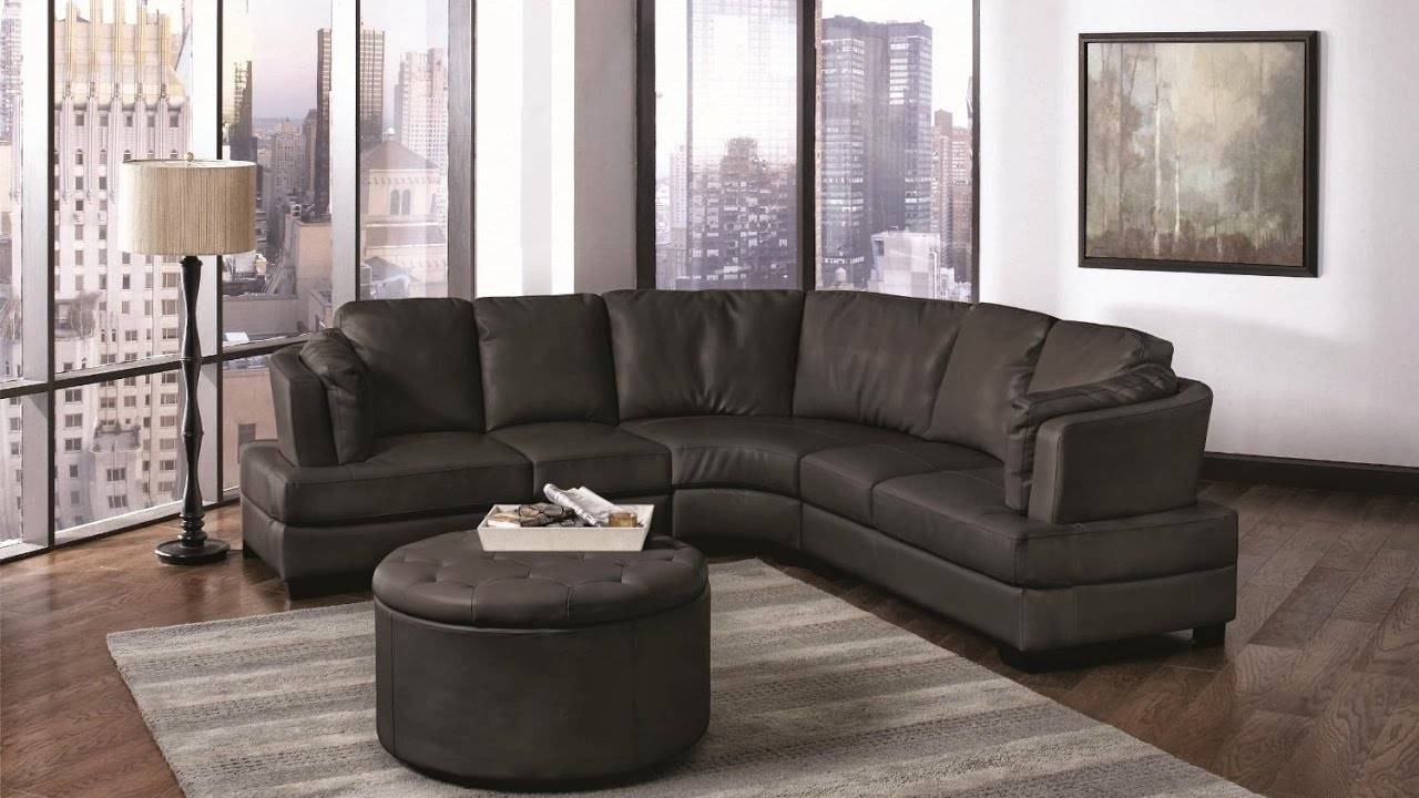 Small Curved Sectional Sofa - Youtube inside Curved Sectional Sofa With Recliner (Image 22 of 30)