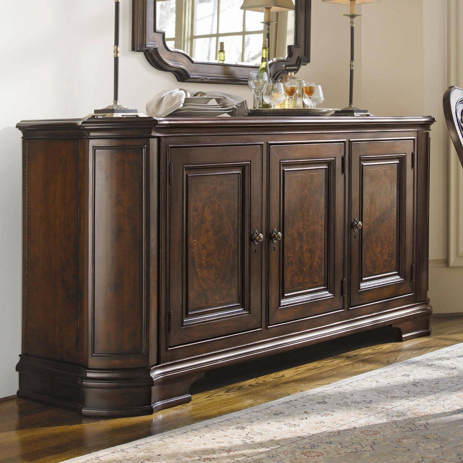 Small Dining Room Sideboard - Home Design Ideas And Pictures inside Small Dark Wood Sideboards (Image 30 of 30)
