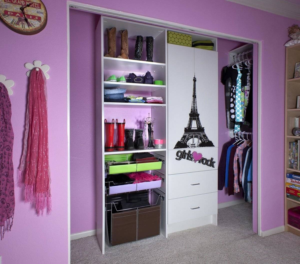 Small Girl Bedrooms With Double Beds And Wardrobes One Of The Best with Girls Wardrobes (Image 11 of 15)