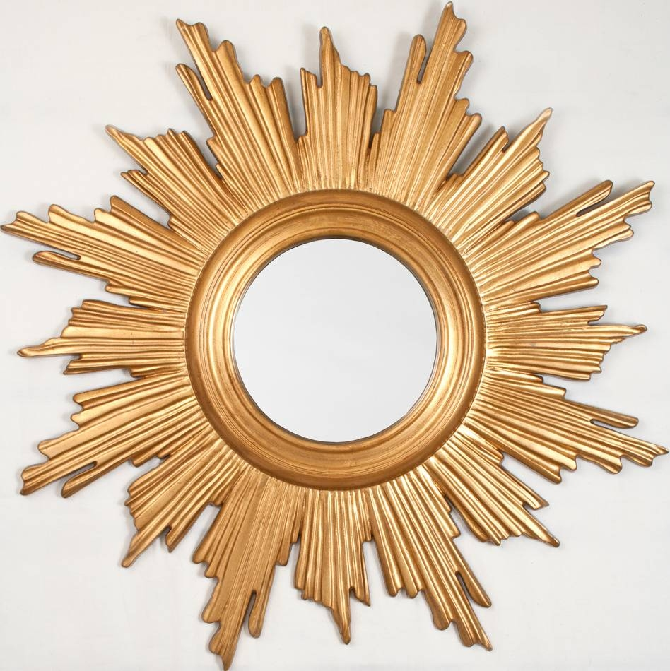 Small Gold Sunburst Mirror 144 Outstanding For Decorative Round Regarding Small Gold Mirrors (View 20 of 25)