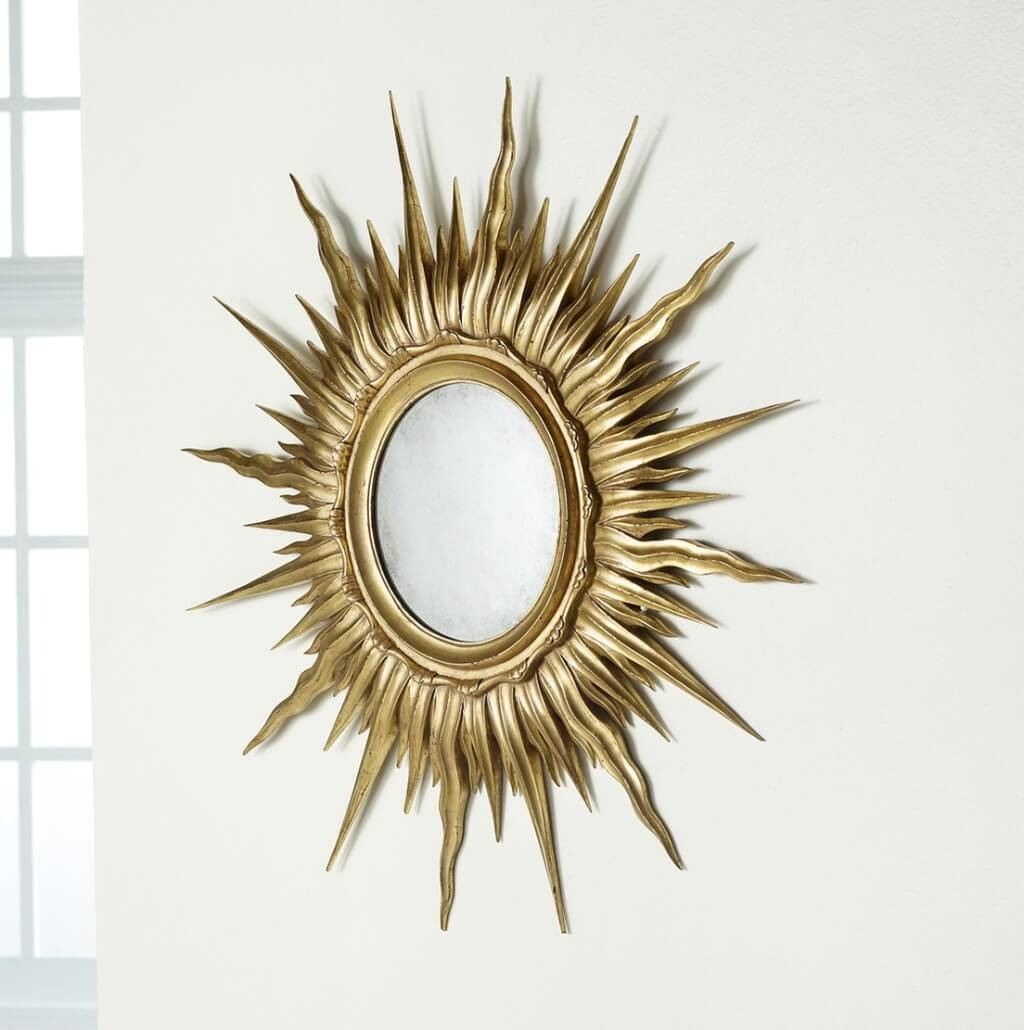 Small Gold Sunburst Mirror – Harpsounds.co regarding Small Gold Mirrors (Image 21 of 25)