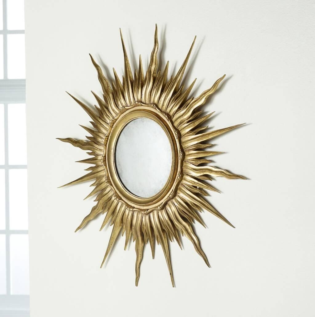 Small Gold Sunburst Mirror – Harpsounds (View 21 of 25)