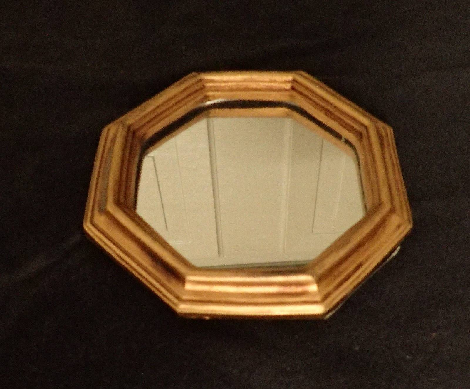 Small Octagon Ornate Gold Mirrors, 6 Across, Vintage | What's It Worth in Ornate Gold Mirrors (Image 22 of 25)