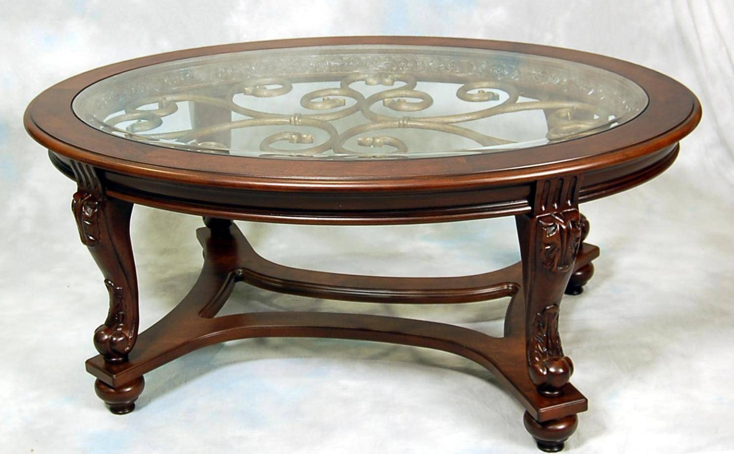 Small Oval Antique Coffee Table | Coffee Tables Decoration with Antique Glass Top Coffee Tables (Image 26 of 30)