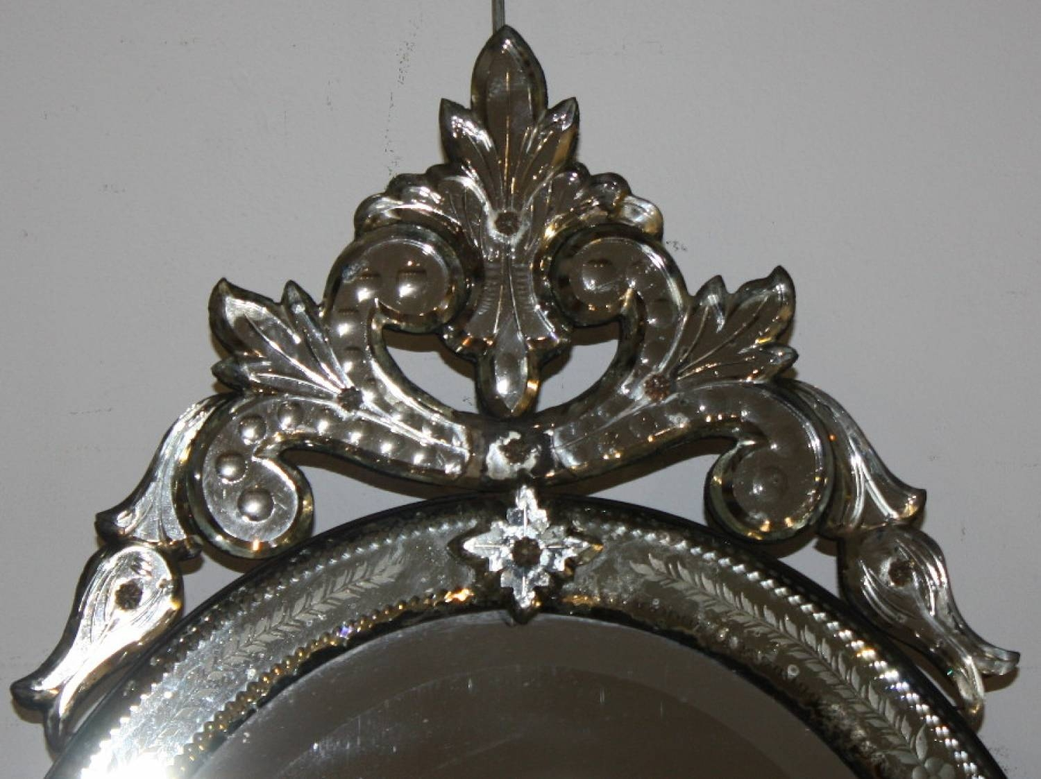 Small Oval Venetian Mirror pertaining to Small Venetian Mirrors (Image 19 of 25)