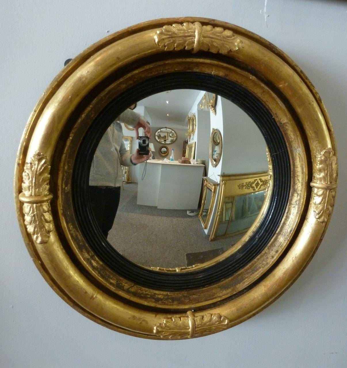 Small Regency Convex Mirror From Annabelles Gilt Shop Regarding Small Convex Mirrors (View 23 of 25)