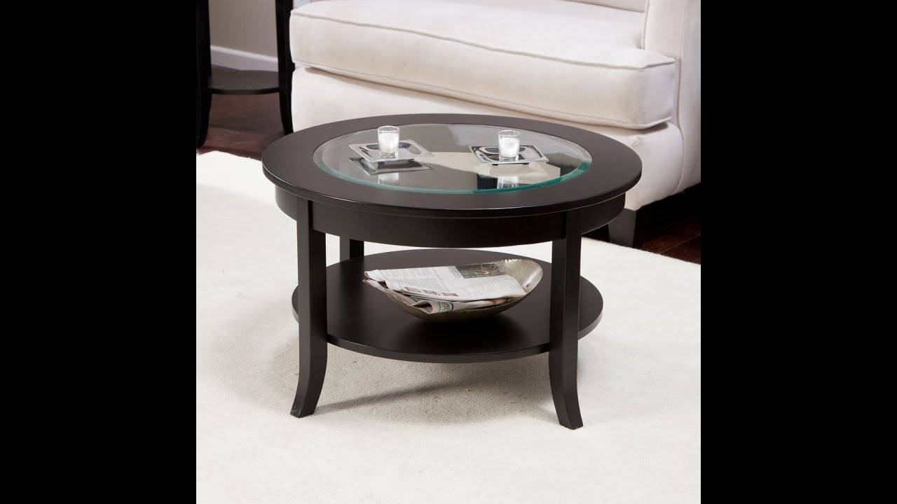 Small Round Coffee Table Glass Top Ideas – Youtube For Small Circular Coffee Table (View 4 of 30)