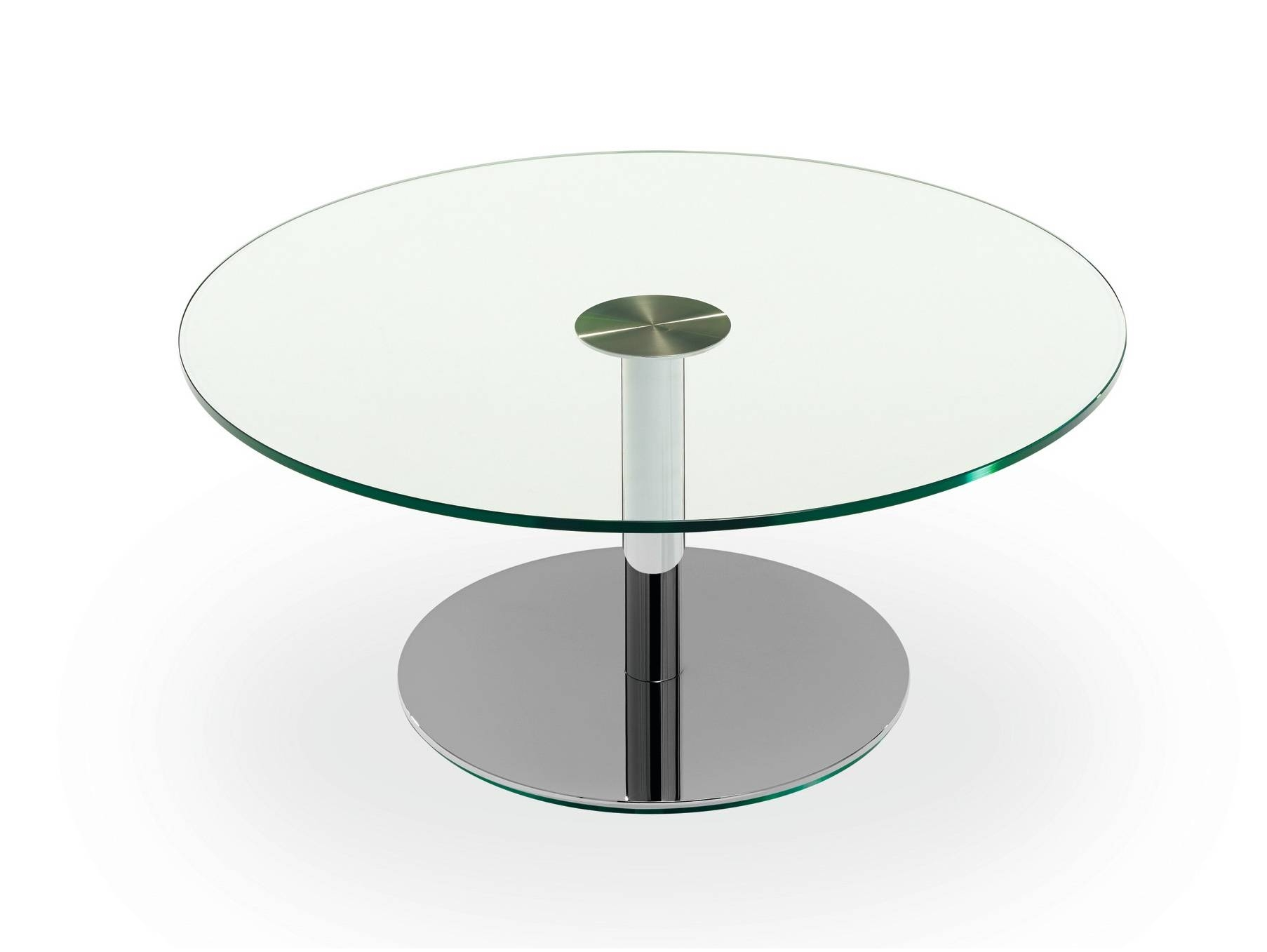 Small Round Glass Top Coffee Table Cocinacentralco - Jericho regarding Glass Circular Coffee Tables (Image 31 of 31)
