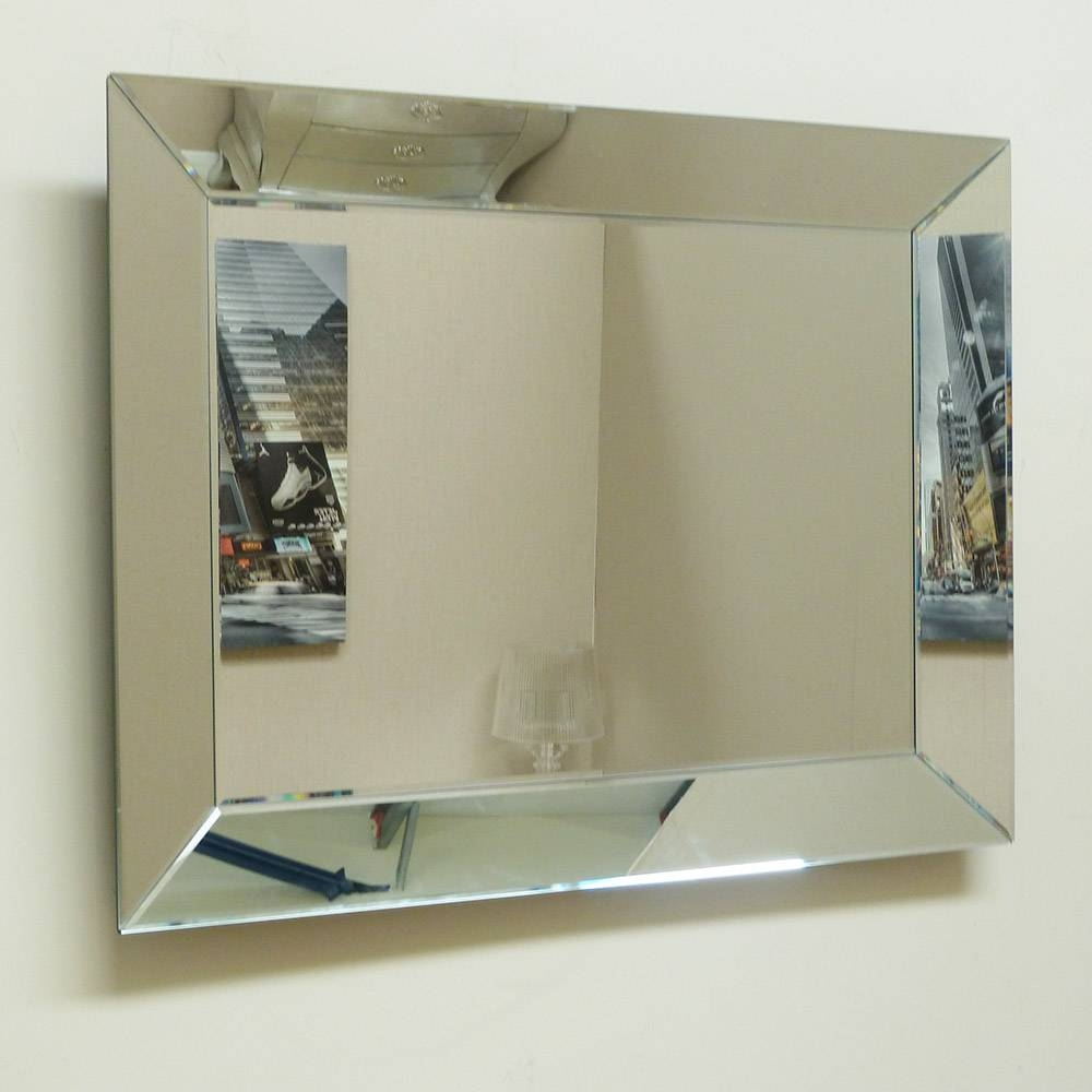 Small Venetian Pearled Style Edge Glass Wall Mirror 70X50Cm Small within Venetian Tray Mirrors (Image 17 of 25)