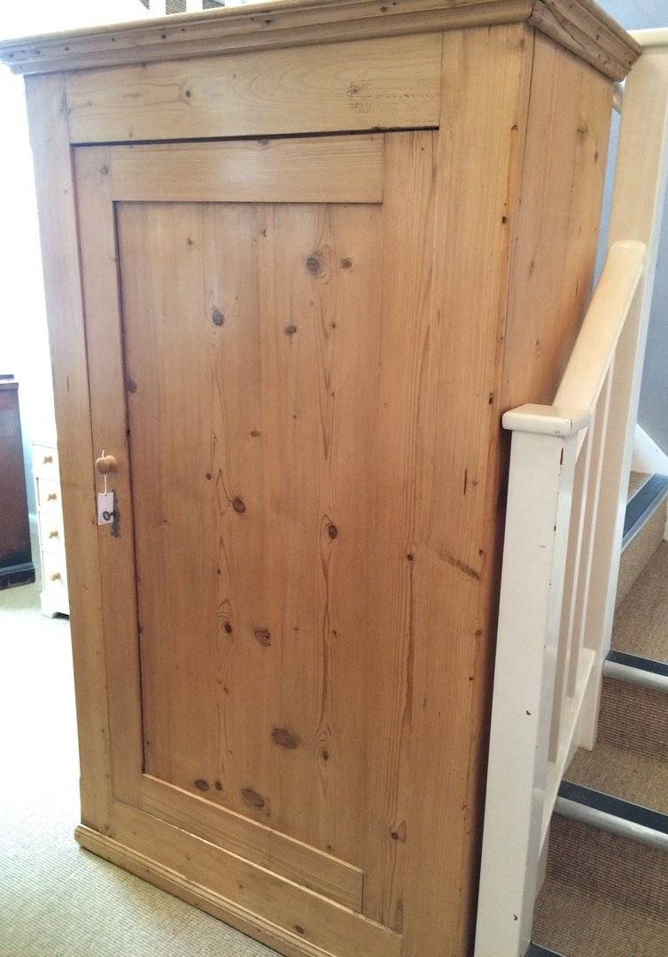 Small Victorian Pine Single Wardrobe - In A Nutshell throughout Single Pine Wardrobes (Image 12 of 15)