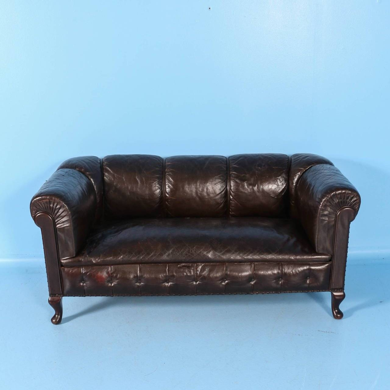 Small Vintage Chesterfield Sofa, England, Circa 1920 - 1940 At 1Stdibs regarding Vintage Chesterfield Sofas (Image 5 of 30)