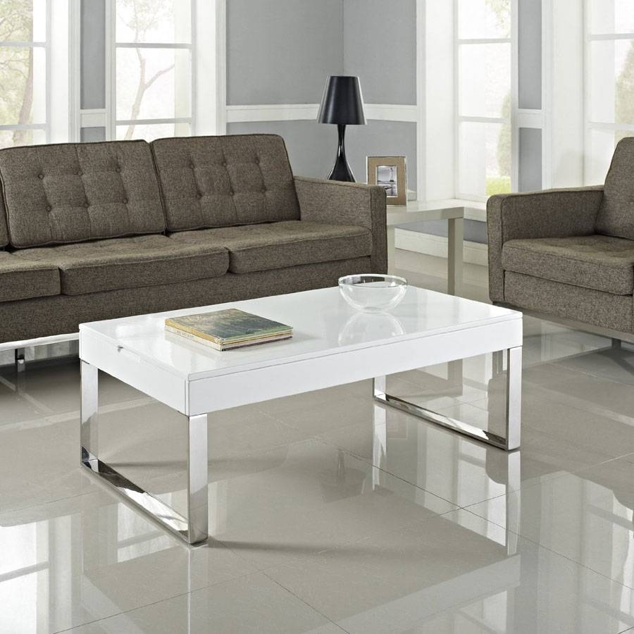 View photos of chrome leg coffee tables showing 4 of 30 photos smart lift top coffee table solutions in modern and classic style intended for chrome leg coffee geotapseo Image collections