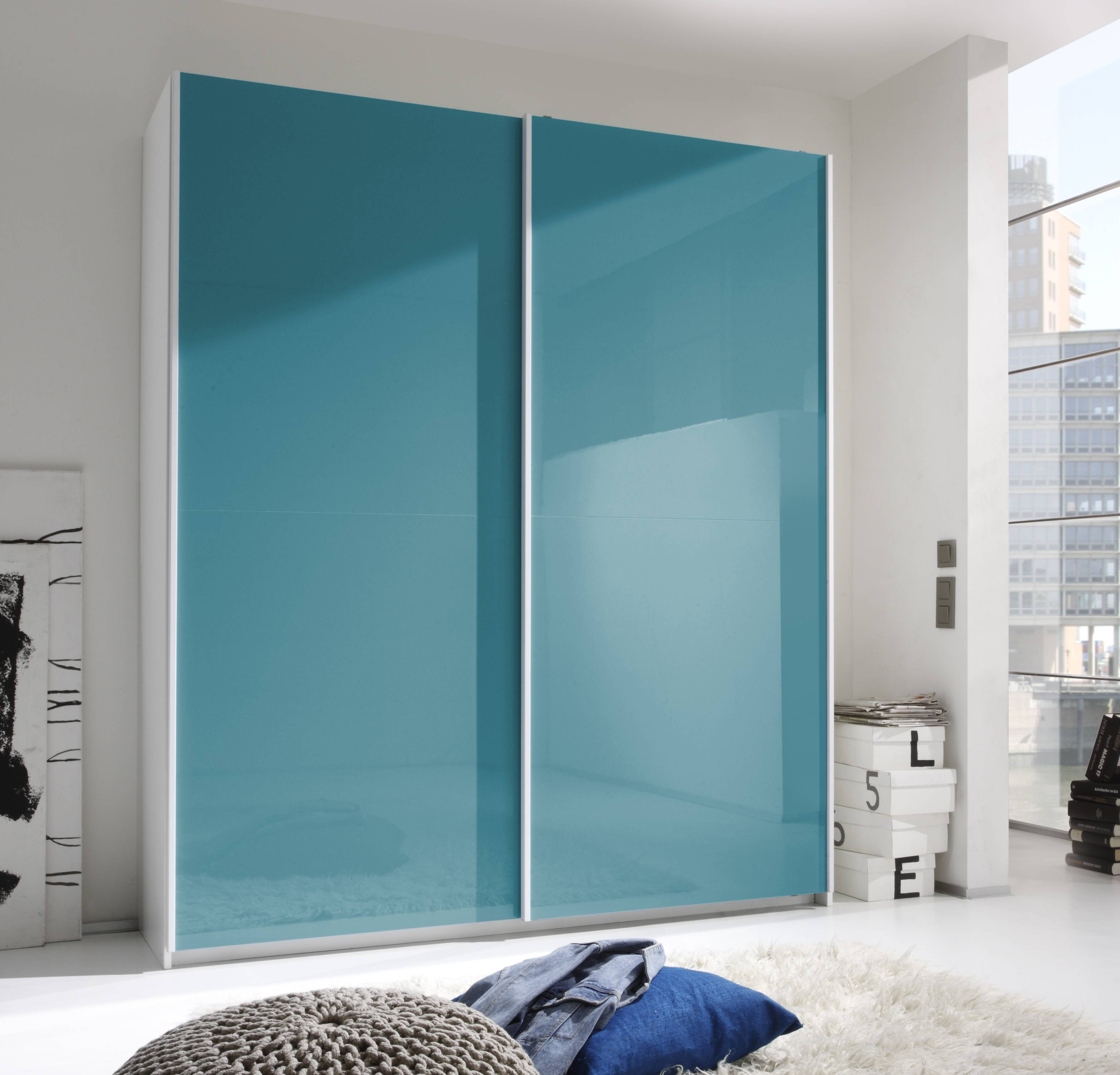 Smart Wardrobe W/2 Sliding Doors, Turquoise Buy Online At Best with regard to Wardrobes With 2 Sliding Doors (Image 15 of 15)