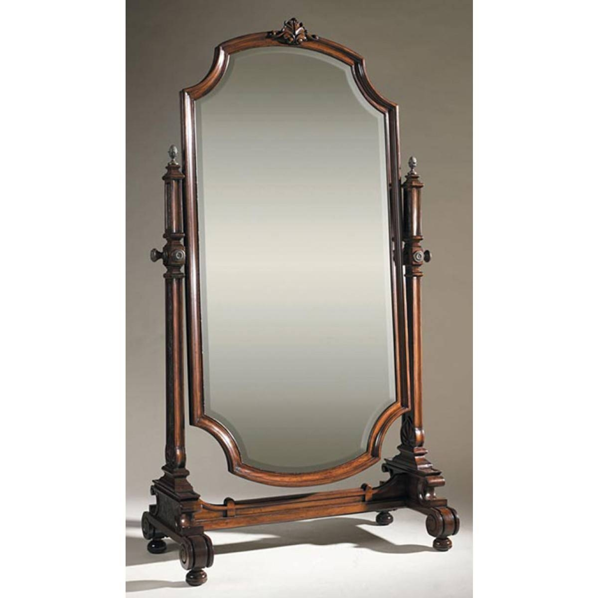 Smith Aged Regency Finished Cheval Mirror Frame, Beveled Mirror within Cheval Mirrors (Image 24 of 25)