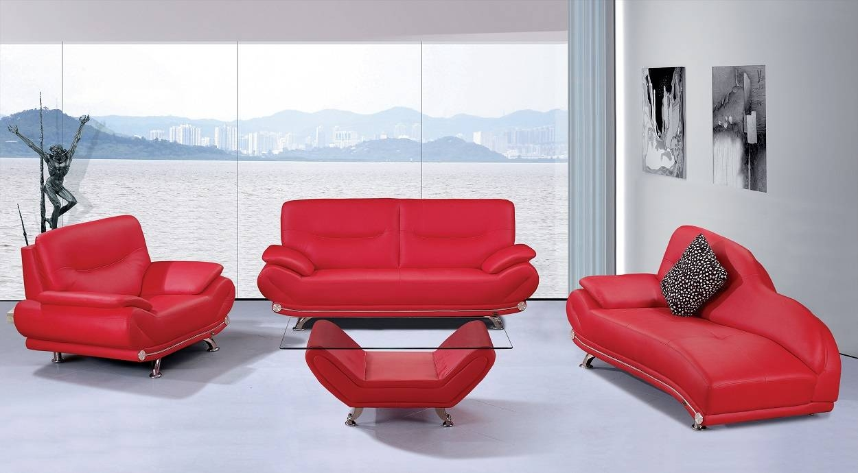 Smlf Furniture Red Sofa. Red Sofa W Contrast Welt. . Modern Red intended for Red Sofas and Chairs (Image 24 of 30)