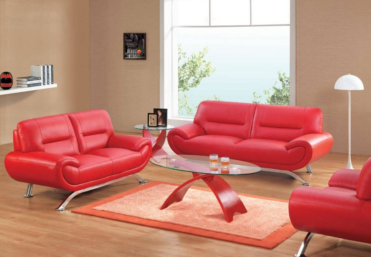 Smlf Furniture Red Sofa. Red Sofa W Contrast Welt. . Modern Red pertaining to Red Sofa Chairs (Image 26 of 30)