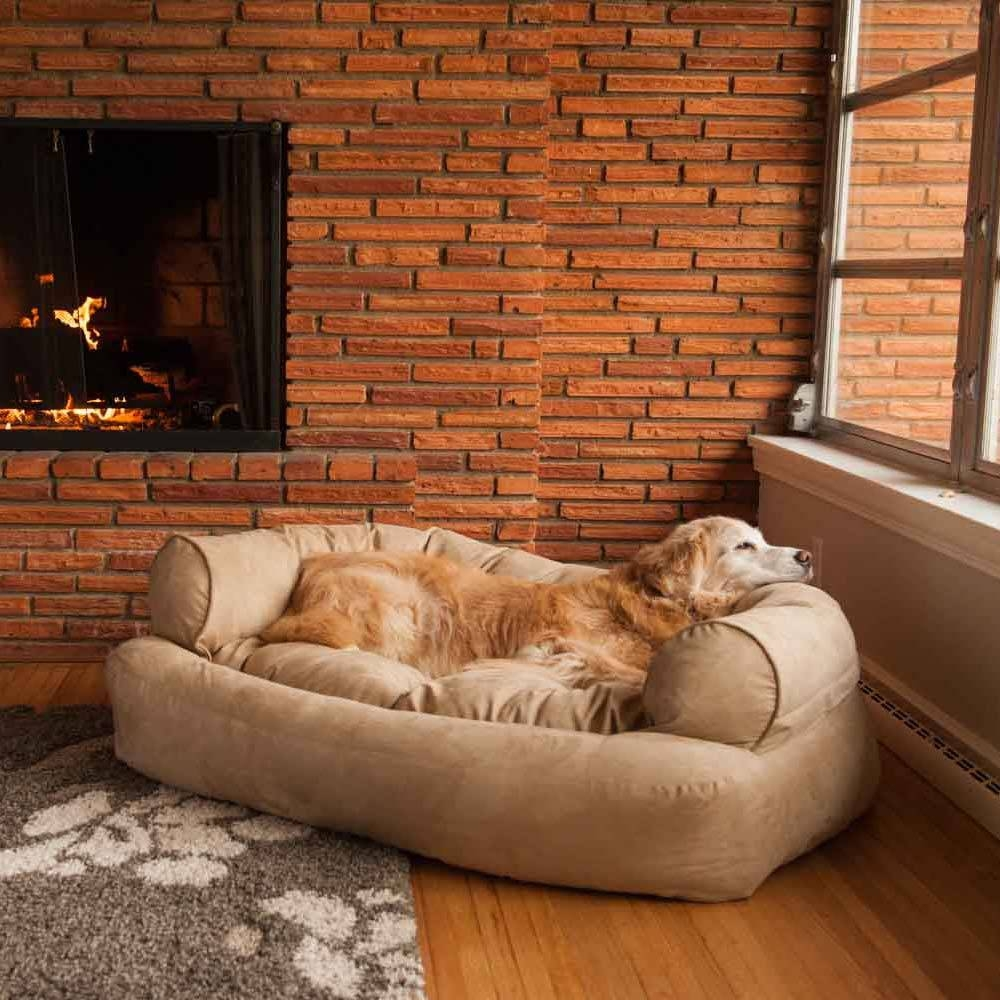Snoozer Overstuffed Luxury Dog Sofa | Microsuede Fabric within Sofas for Dogs (Image 10 of 30)
