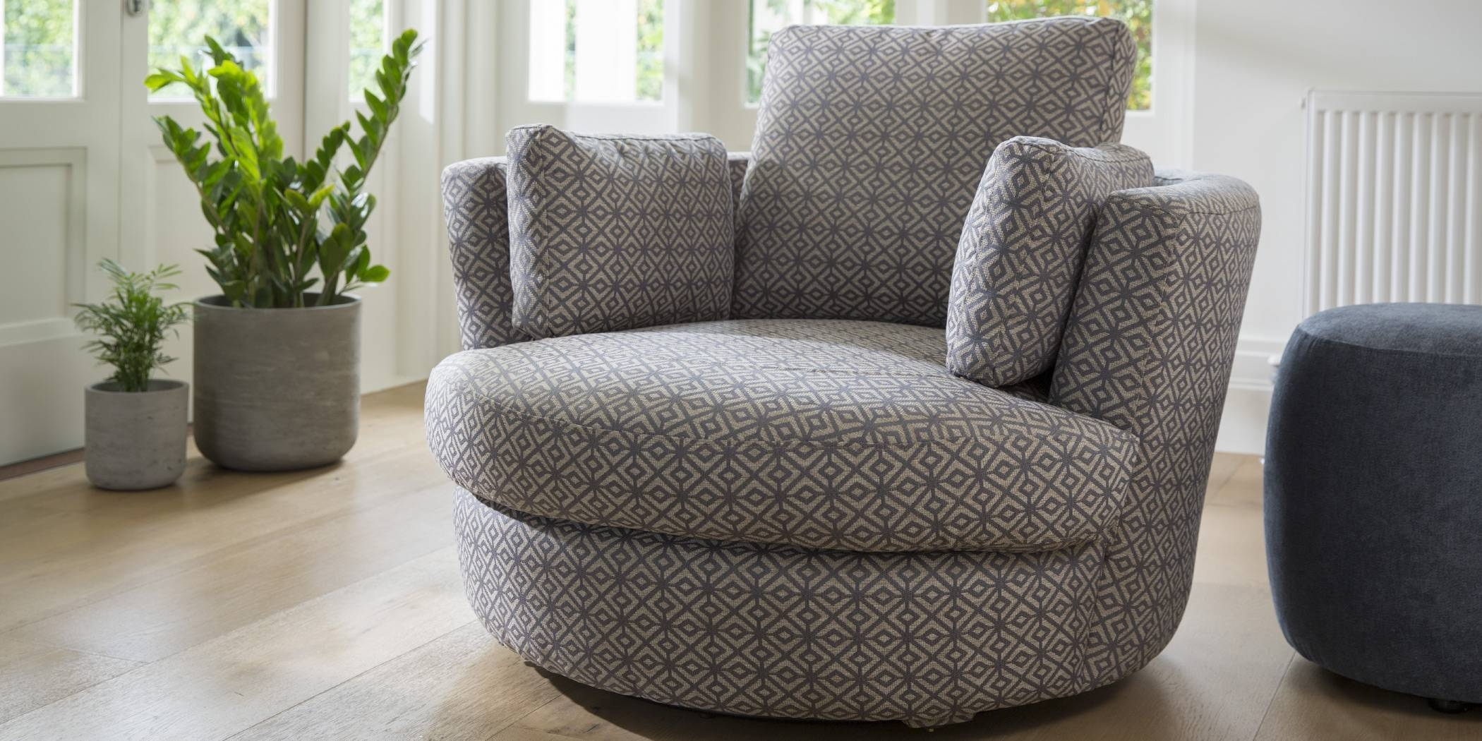 Snuggle Petite Chair | Leather, Fabric, Occasional Chairs | Plush within Snuggle Sofas (Image 25 of 30)