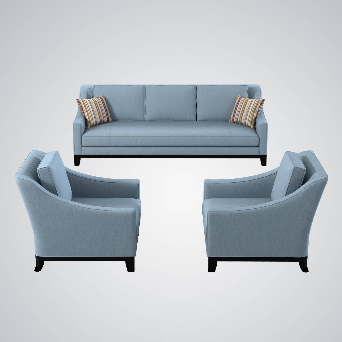 Sofa 3D Models | Turbosquid throughout Chair Sofas (Image 16 of 30)
