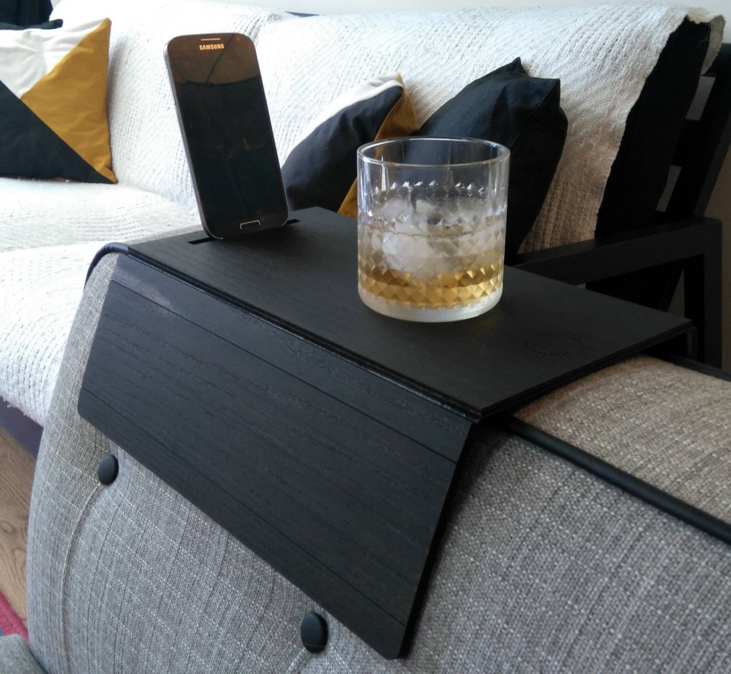 Sofa Arm Tray Placemat Sofa Tray Table Sofa Arm Tray Armrest regarding Sofa Drink Tables (Image 25 of 30)