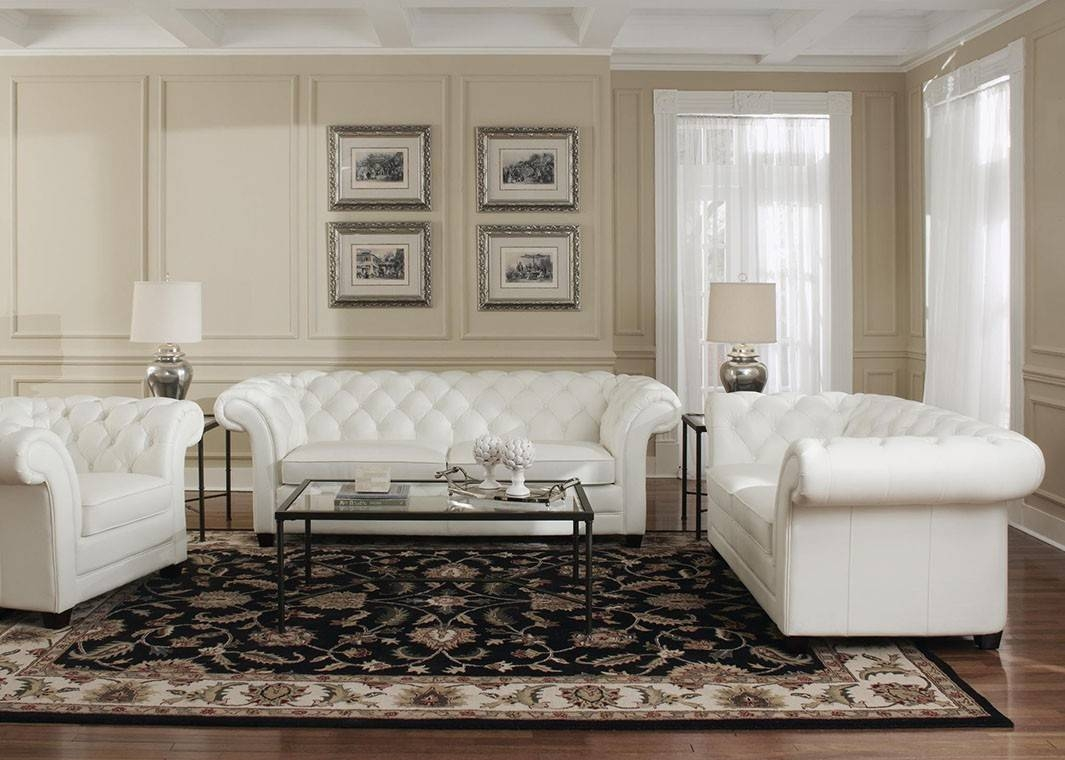 Sofa: Astounding White Leather Loveseat 2017 Ideas Light Brown throughout Off White Leather Sofa and Loveseat (Image 17 of 30)