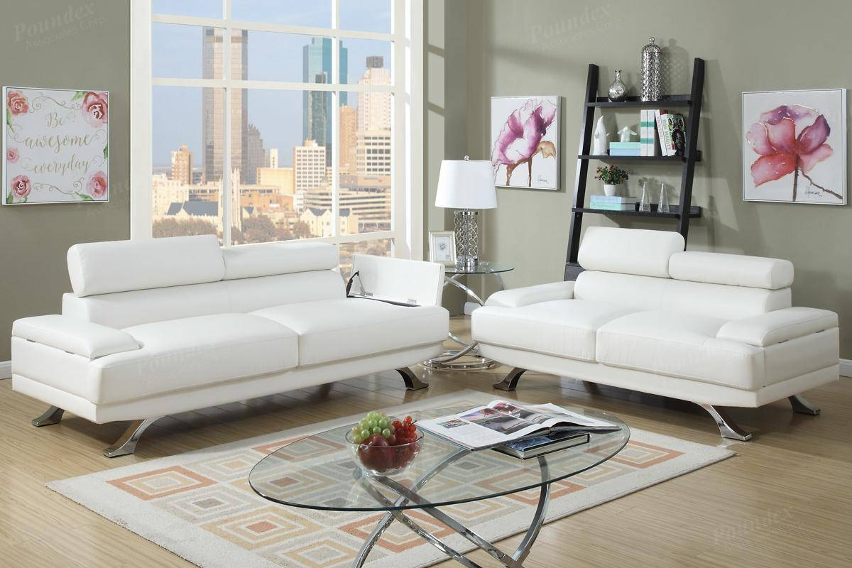 Sofa: Astounding White Leather Loveseat 2017 Ideas Light Brown throughout Off White Leather Sofa And Loveseat (Image 16 of 30)