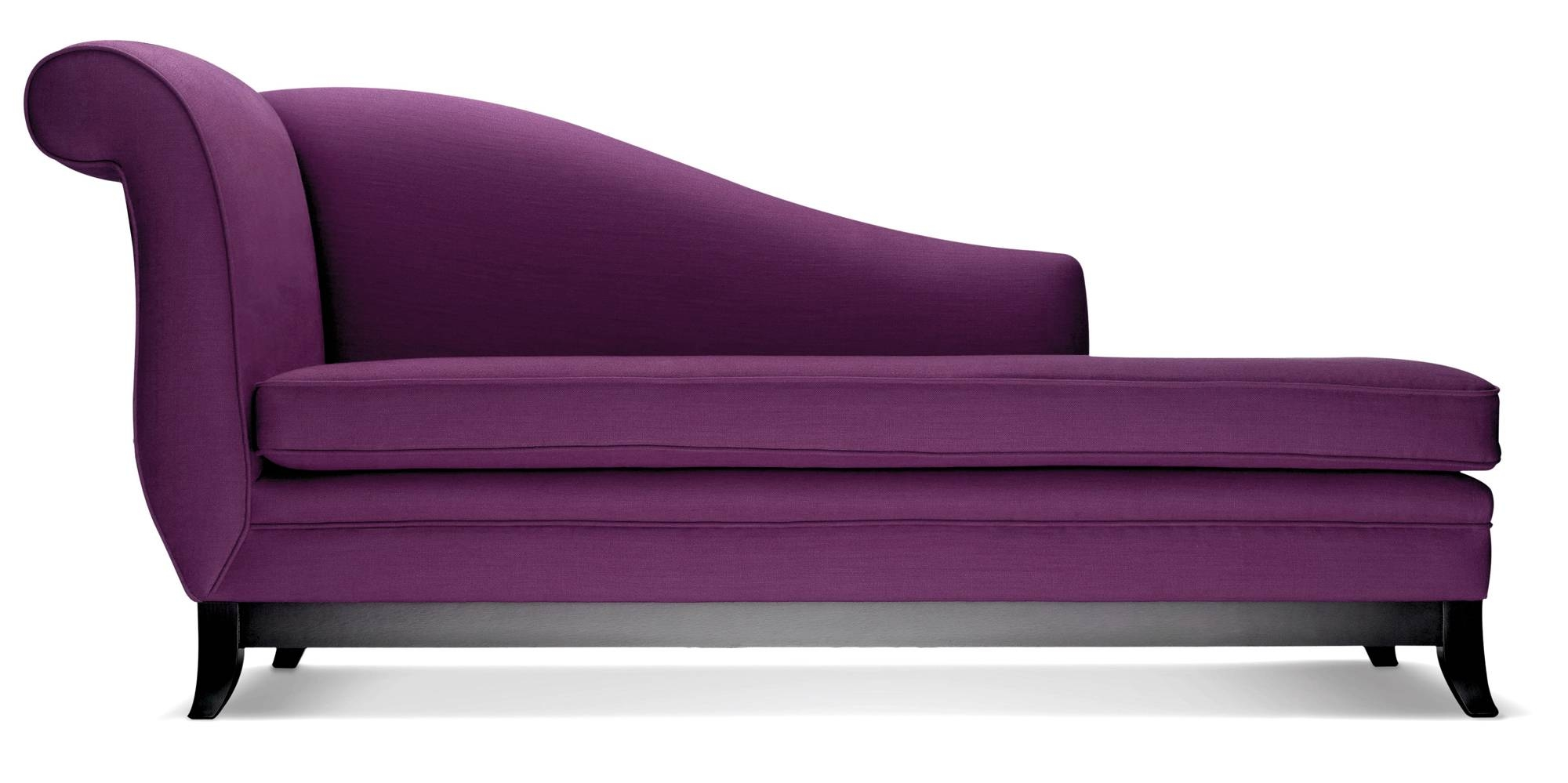 Sofa Beach Style Purple Velvet Tufted Hudson Home Decor Backless With Regard To Backless Chaise Sofa (View 6 of 30)