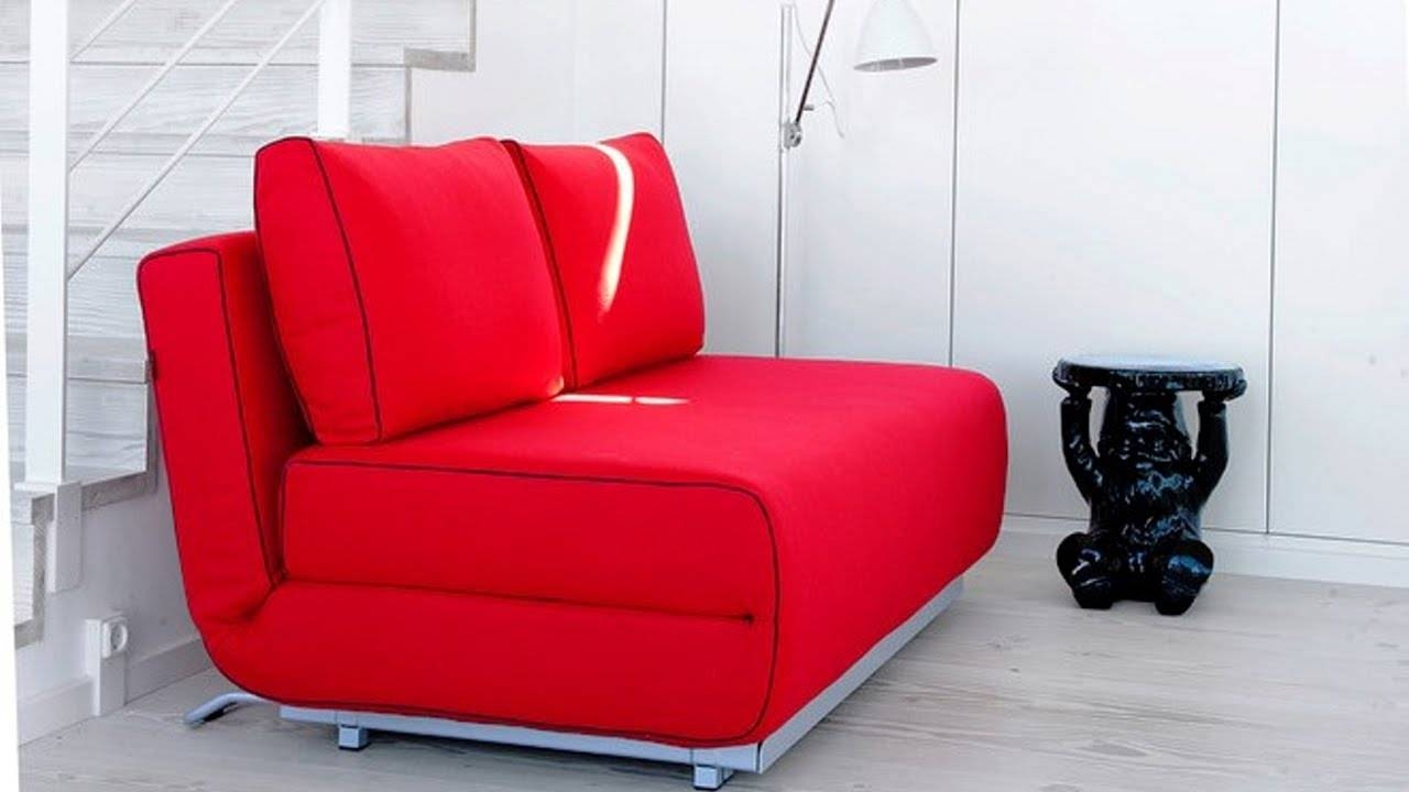 Sofa Bed, A Smart Solution For Small Spaces - Youtube for Tiny Sofas (Image 13 of 30)