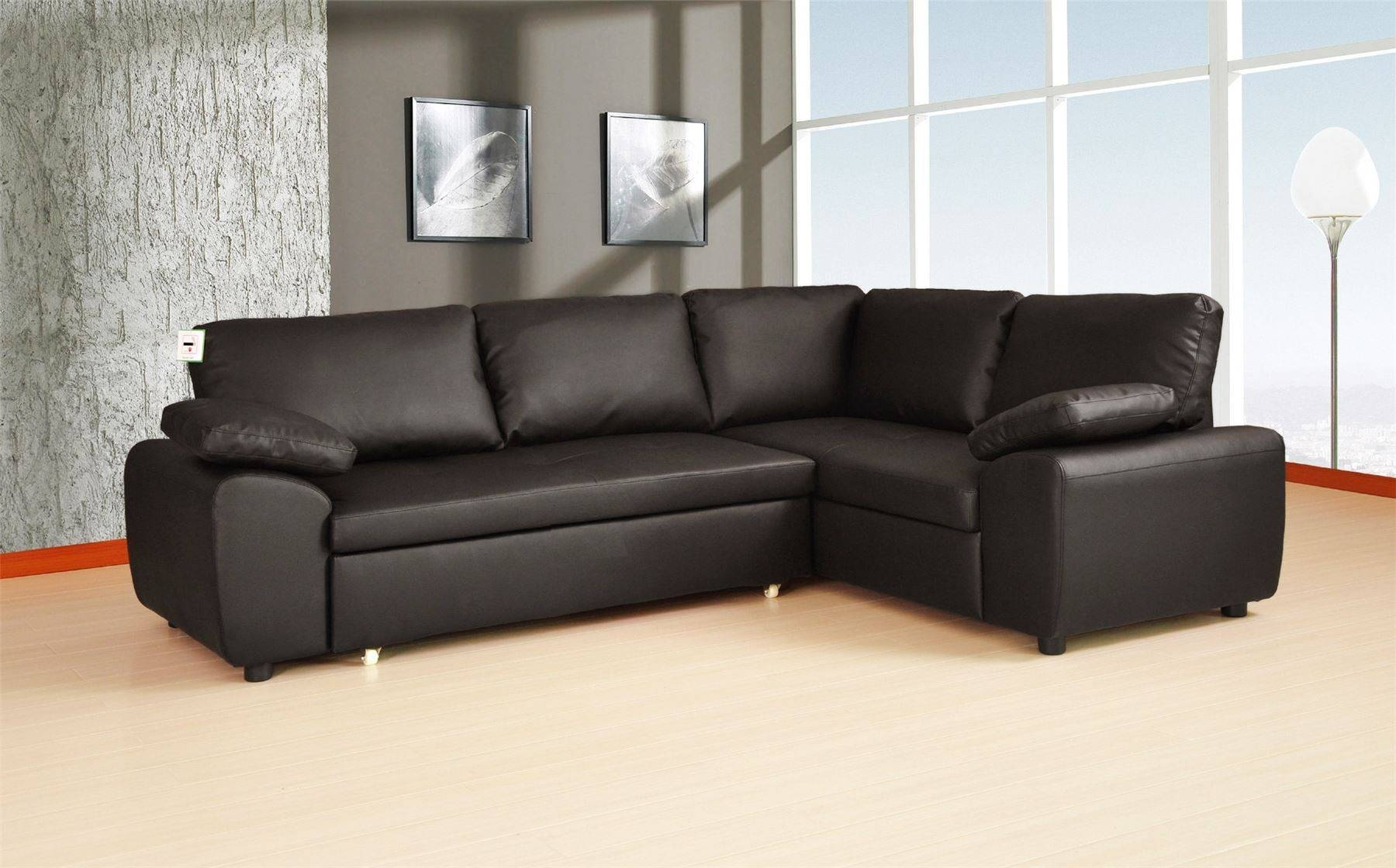 Sofa Bed Leather Corner | Tehranmix Decoration pertaining to Leather Storage Sofas (Image 21 of 30)
