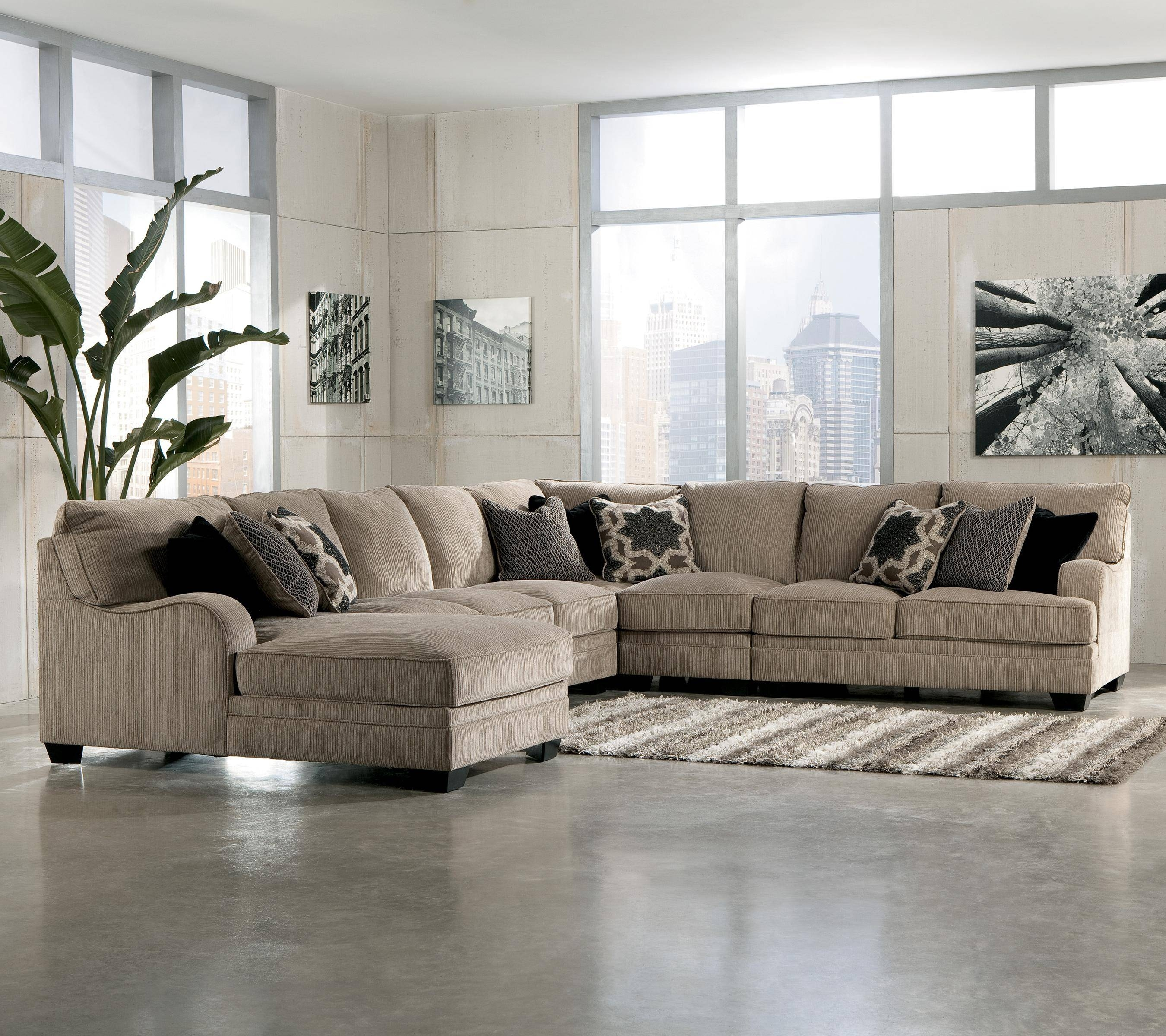 Sofa Chaise Lounge U203A Ashley Furniture Darcy. Slipcovers For regarding 3 Piece Sectional Sleeper Sofa (Image 25 of 30)