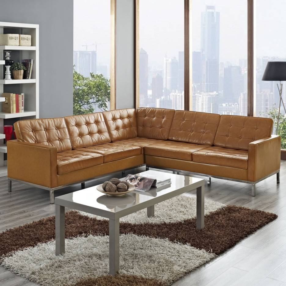 Sofa: Comfort And Style Is Evident In This Dynamic With Tufted for Leather L Shaped Sectional Sofas (Image 28 of 30)