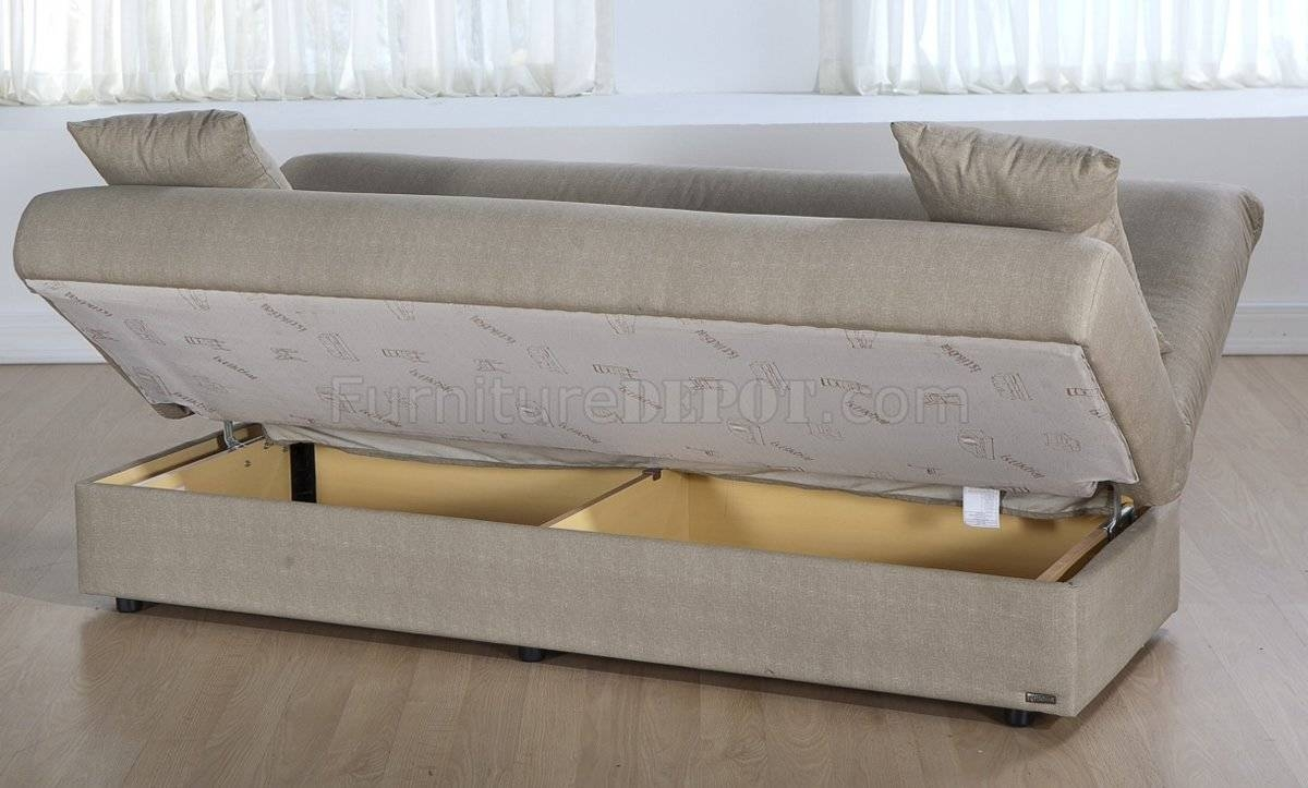 Sofa Convertible Bed With Storage Serta Traditional German Made within Storage Sofa Beds (Image 20 of 30)