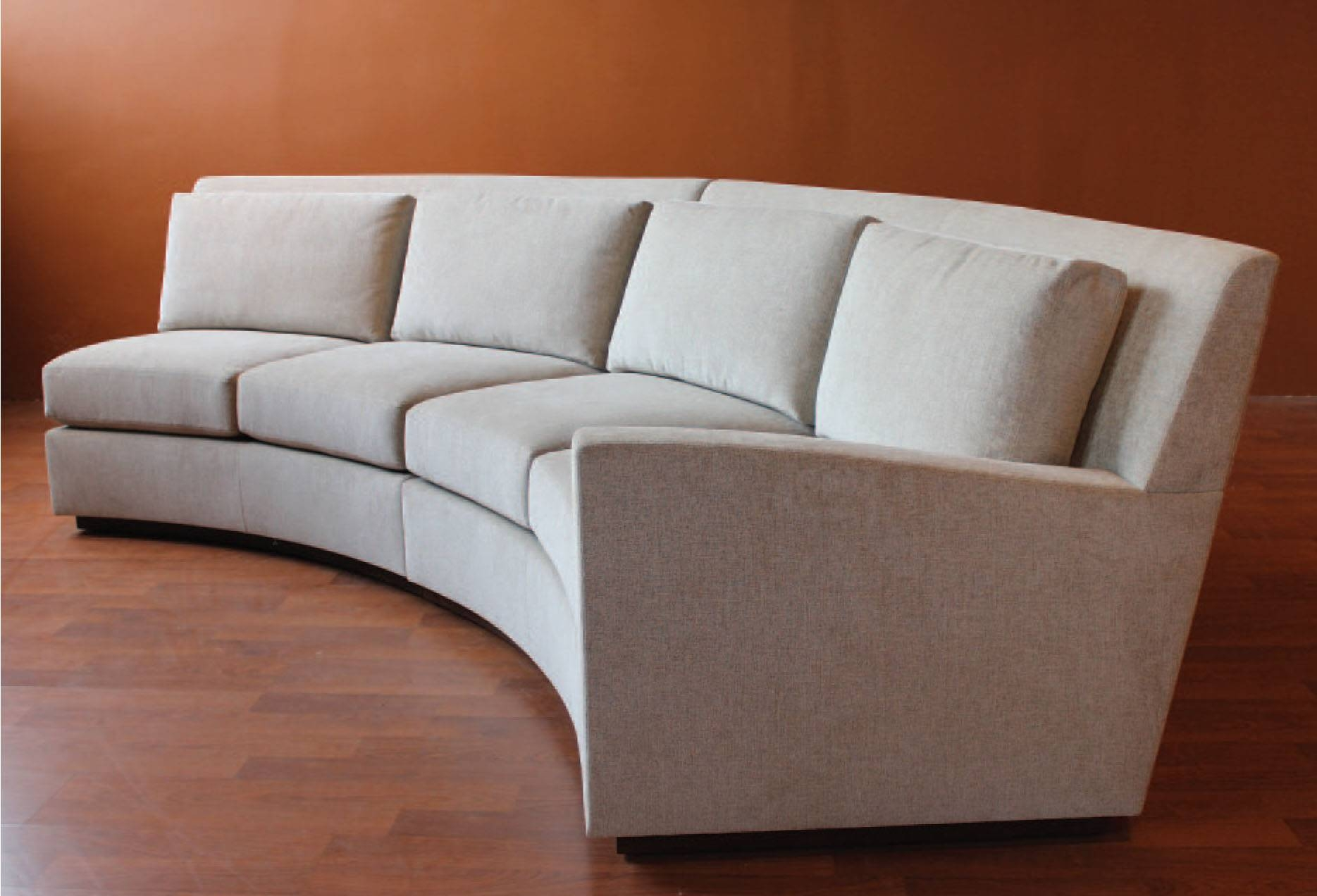 Sofa: Cool Couches For Provides A Warm To Comfortable Feel And Low with Circular Sectional Sofa (Image 26 of 30)