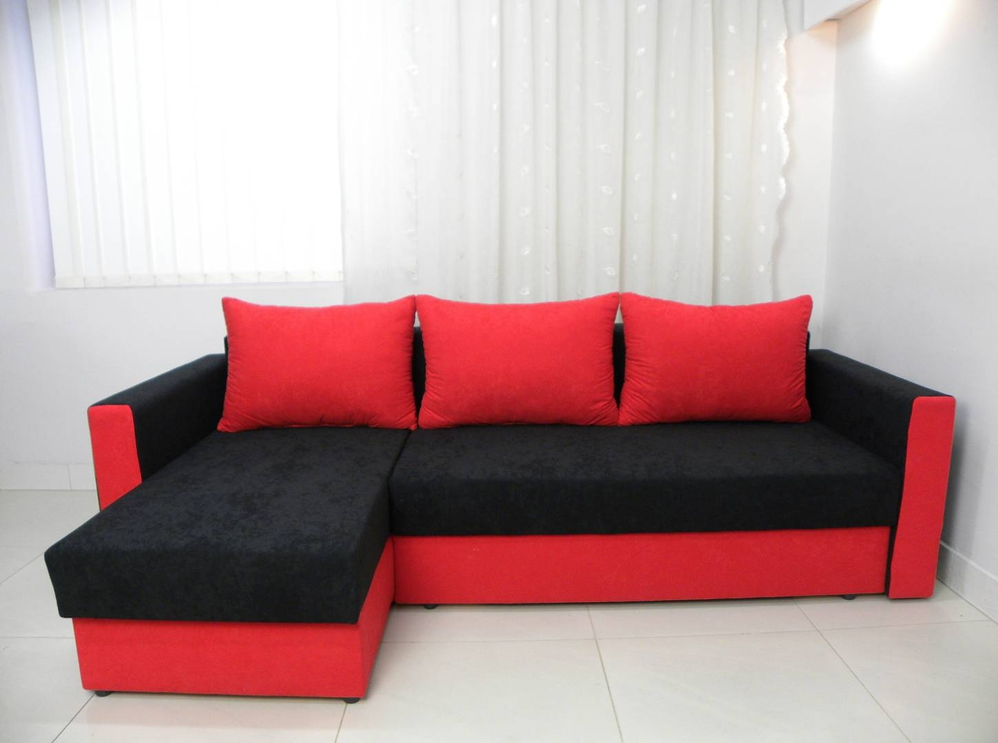 25 collection of sofa red and black Red sofas and loveseats
