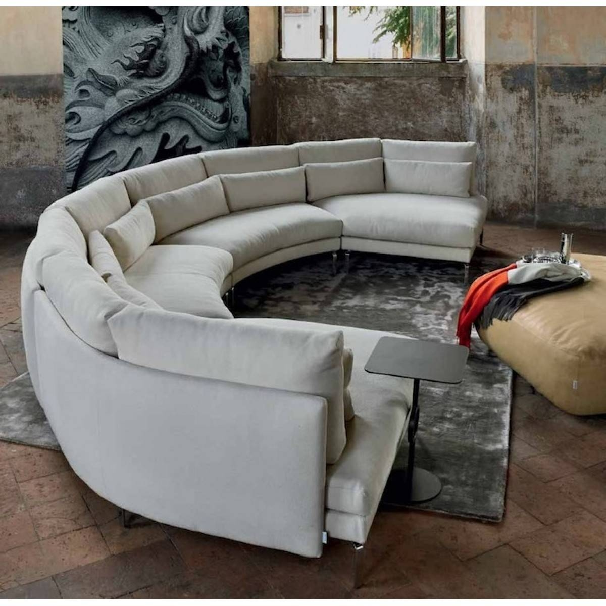 Sofa Design Ideas: Half Semi Circular Sofa Tables In Sale With for Semicircular Sofa (Image 27 of 30)
