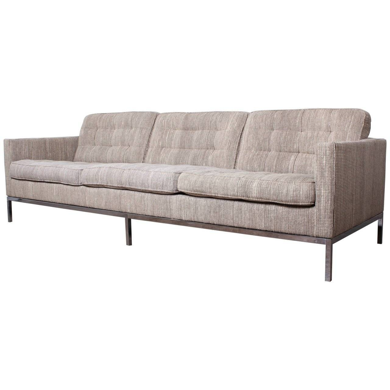 "Sofa Designedflorence Knoll In ""cato"" Wool Upholstery For Sale for Florence Knoll Wood Legs Sofas (Image 20 of 25)"