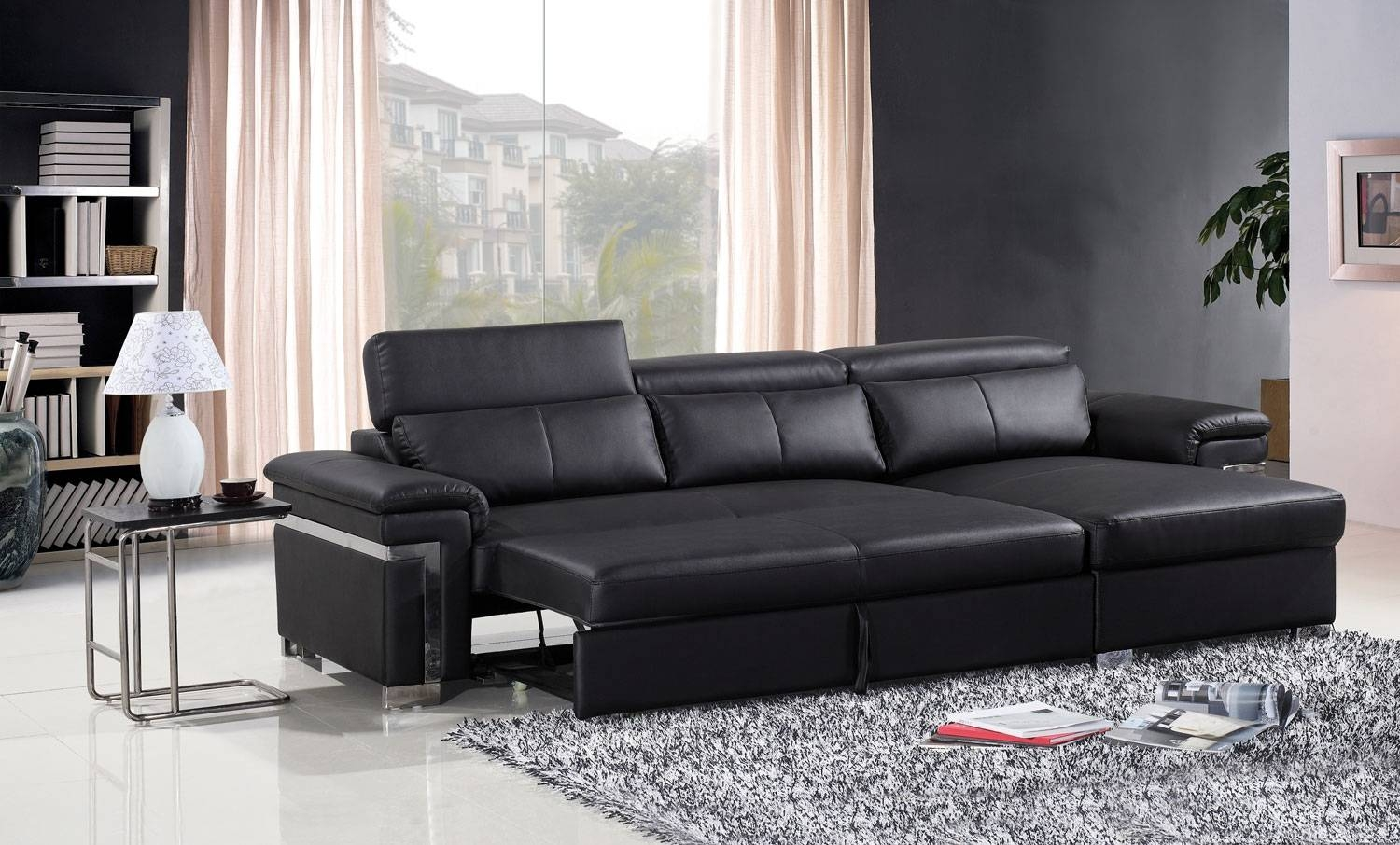Sofa: Glamorous Leather Sofa Beds 2017 Design 2 Seater Leather with regard to Leather Sofa Beds With Storage (Image 28 of 30)