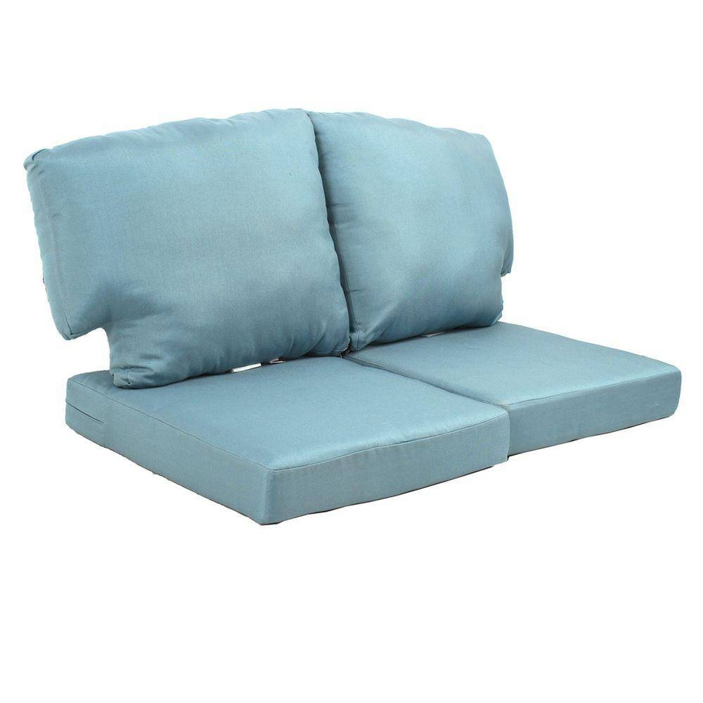 Sofa & Loveseat Cushions - Outdoor Cushions - The Home Depot for Sofa Cushions (Image 26 of 30)