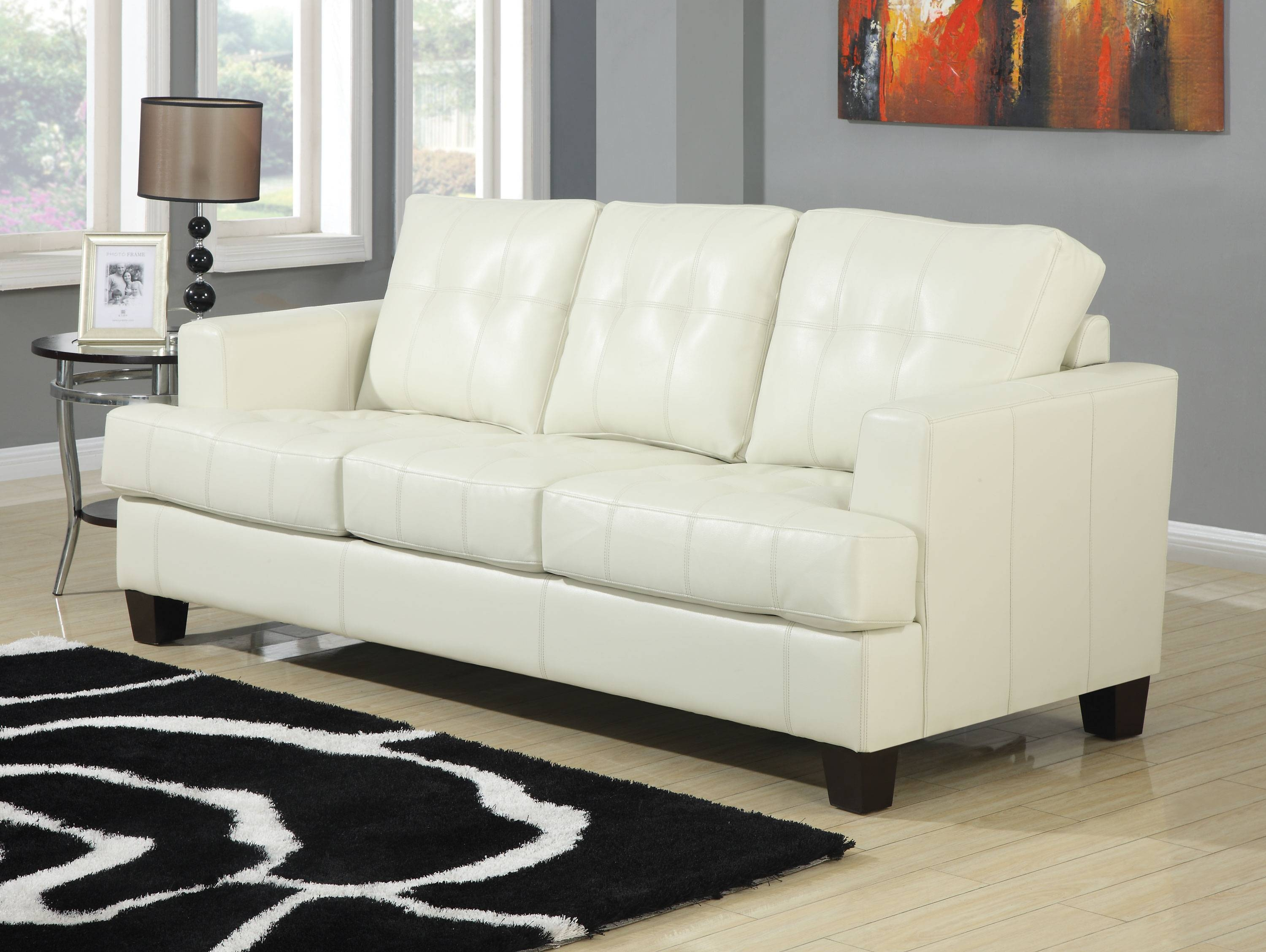 Sofa. Outstanding Light Tan Leather Couch 2017 Design Sofa Cleaner with regard to Cream Colored Sofas (Image 19 of 30)