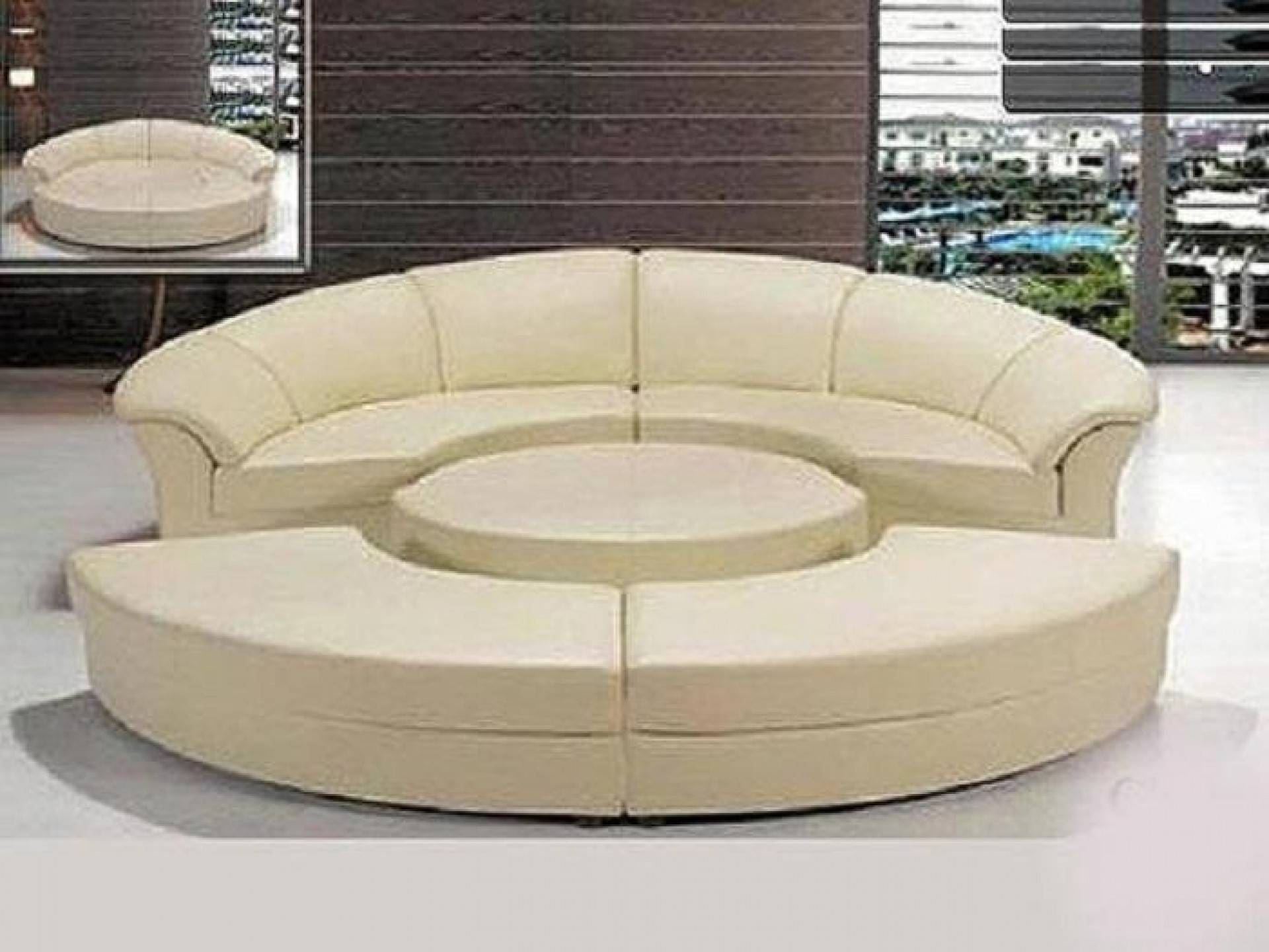 Sofa Round Sectional Bed | Tamingthesat within Round Sofas (Image 19 of 30)