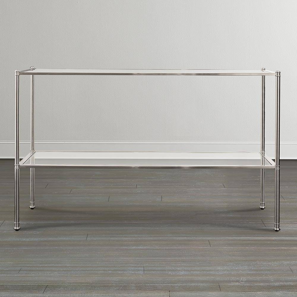 Sofa Tables For Your Living Or Entertainment Room with regard to Metal Glass Sofa Tables (Image 26 of 30)