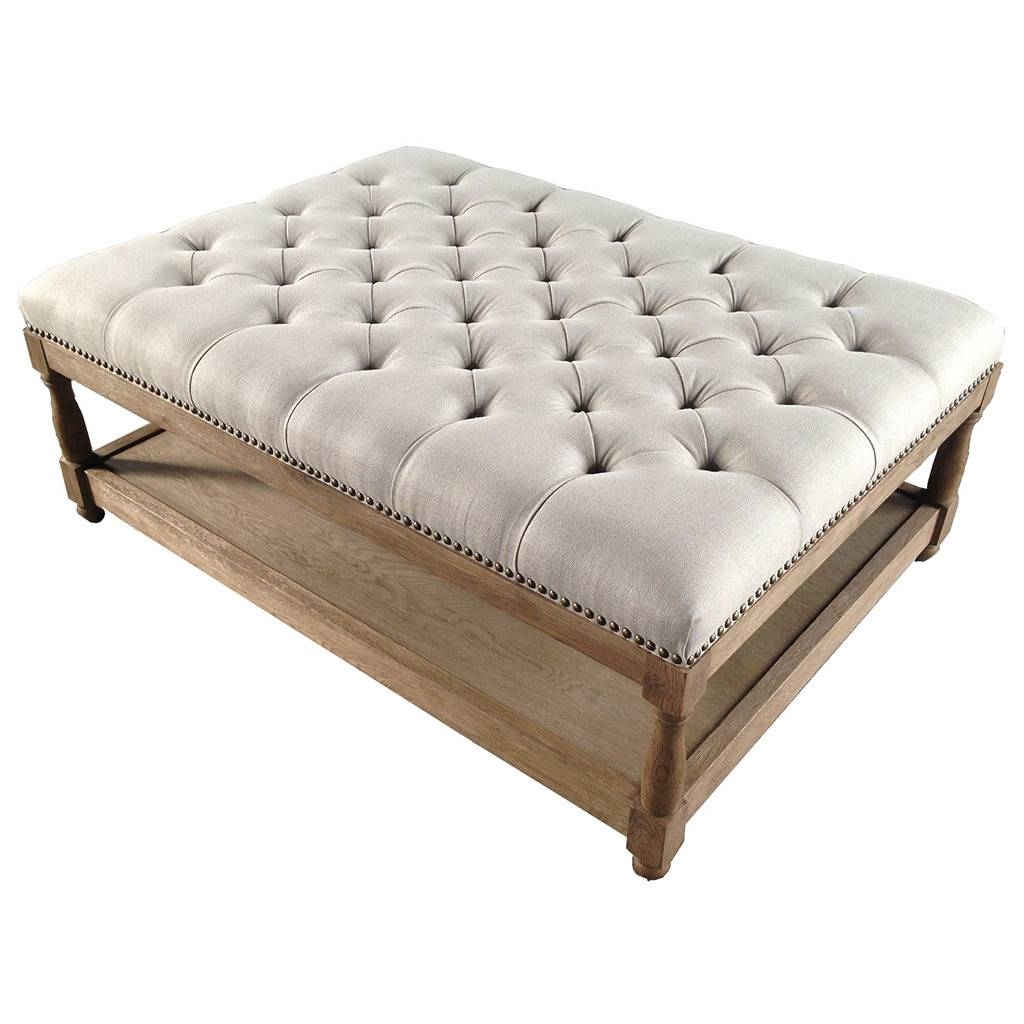 Sofa Upholstered Footstool Coffee Table | Gmotrilogy with Footstool Coffee Tables (Image 24 of 30)