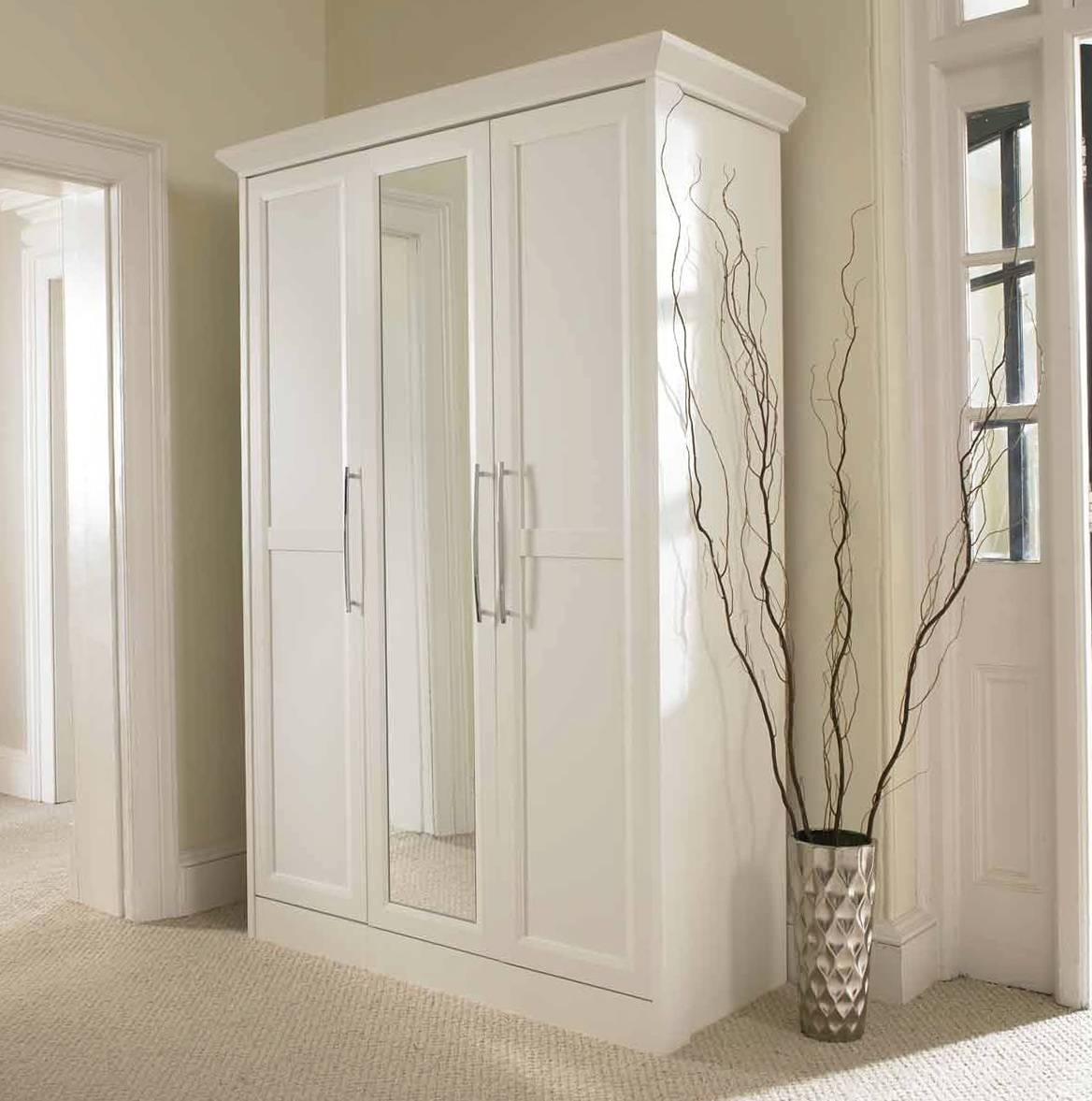 Sofa Wardrobe Closet With Mirror Doors Mirrored | Winafrica within White Mirrored Wardrobes (Image 12 of 15)