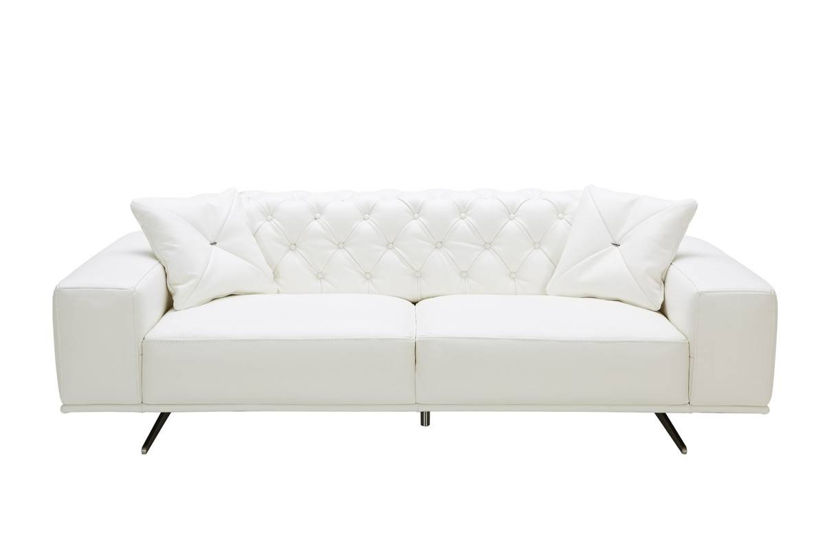 Sofa White Modern Bed Chair Sectional Set Corner Table | Winafrica for White Modern Sofas (Image 18 of 30)