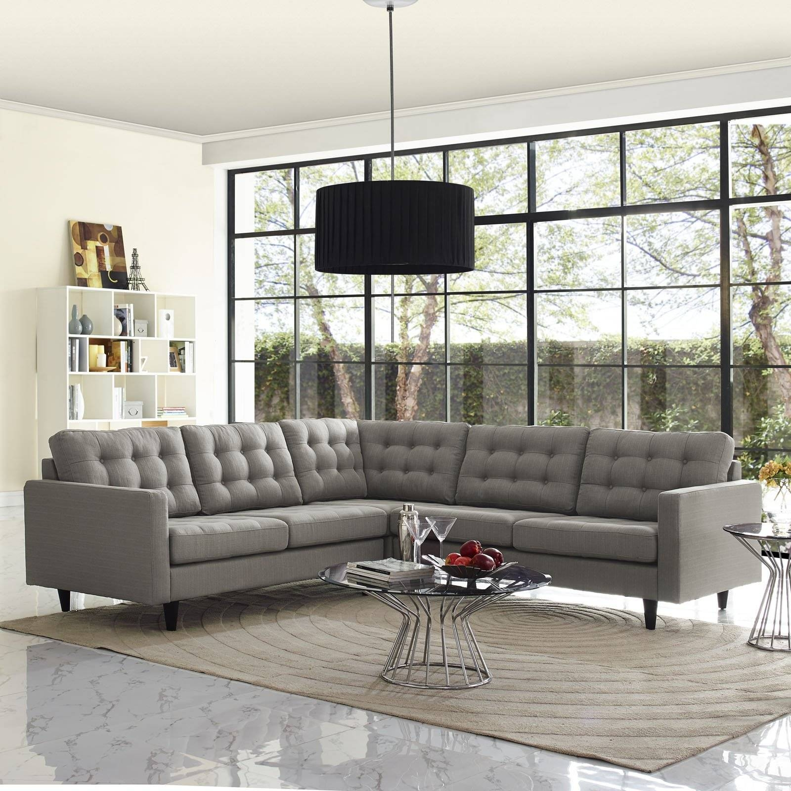 Sofas Center : 35 Incredible Tufted Sectional Sofa Picture Design regarding Tufted Sectional Sofa With Chaise (Image 24 of 30)