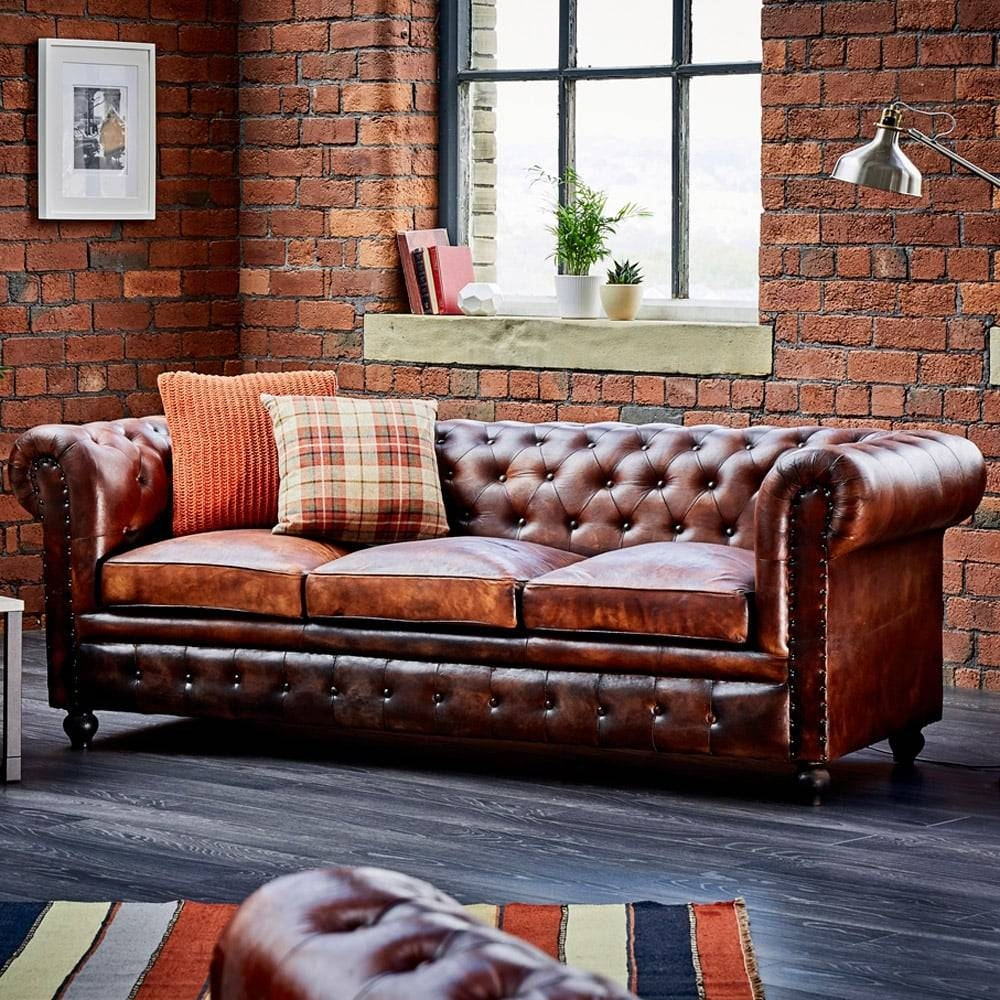 Sofas Center : 42 Outstanding Leather Chesterfield Sofa Pictures inside Leather Chesterfield Sofas (Image 22 of 30)