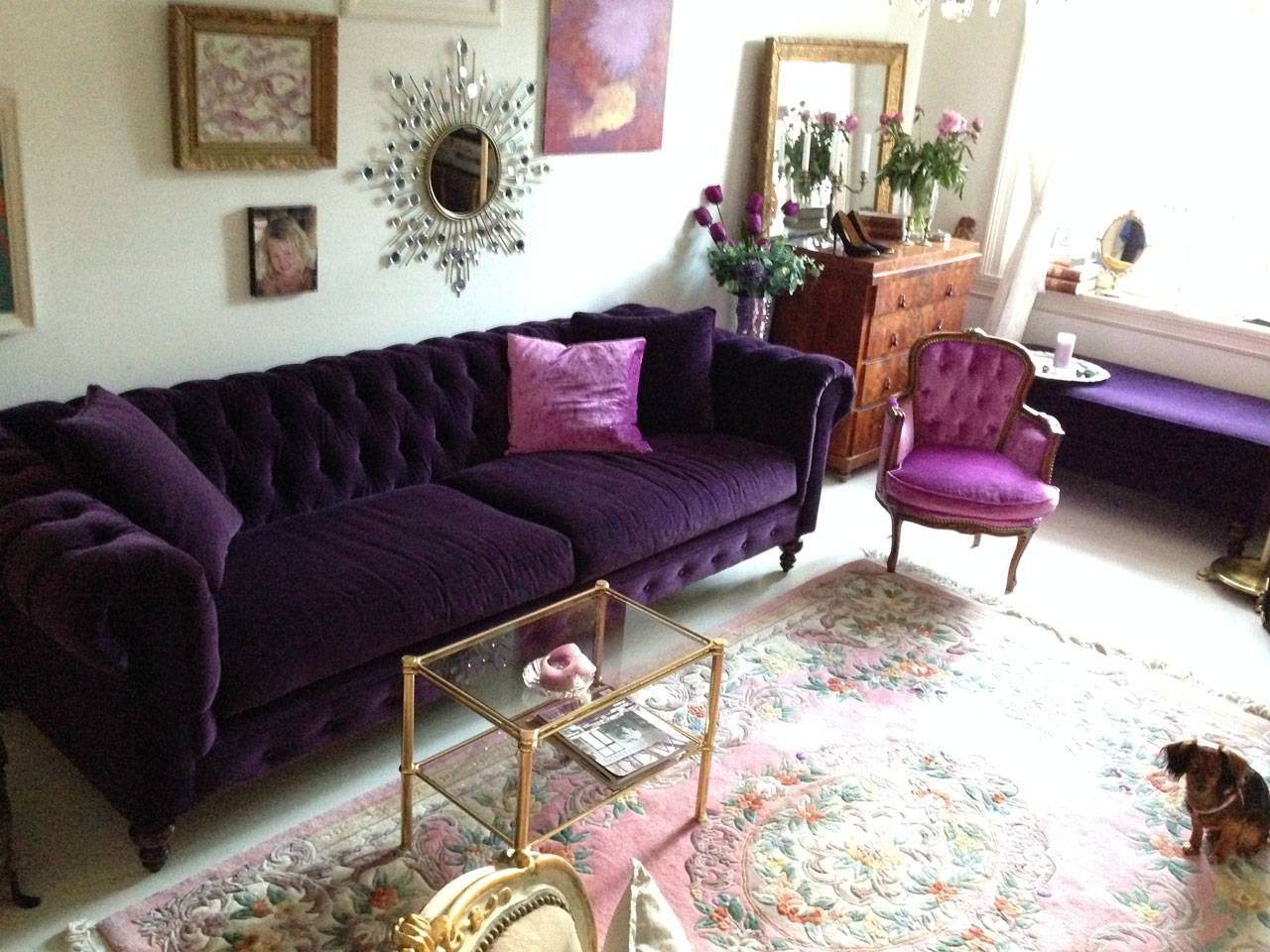 Sofas Center : 45 Unbelievable Purple Velvet Sofa Picture regarding Velvet Purple Sofas (Image 26 of 30)