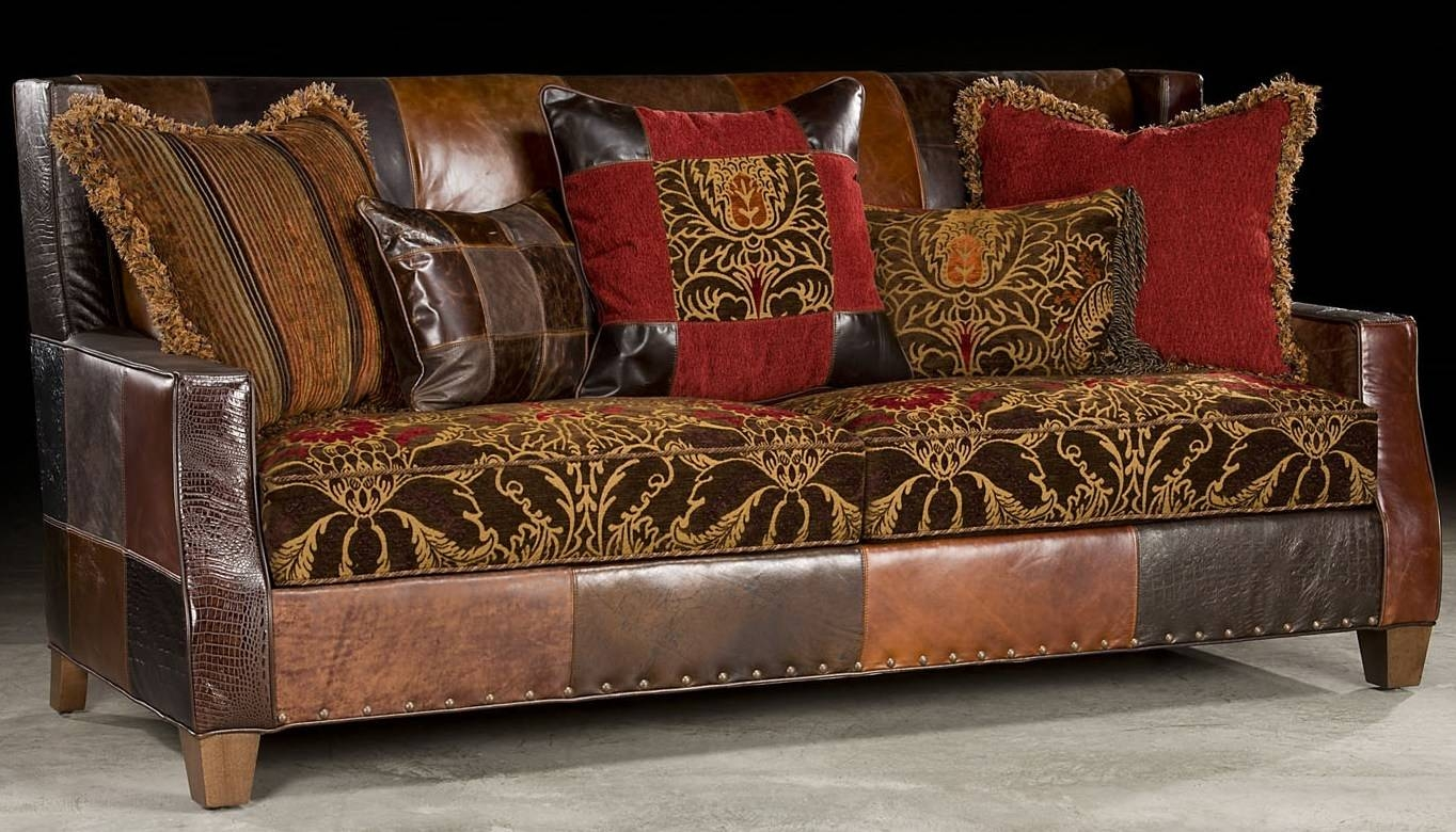 Sofas Center : 46 Stupendous Leather And Fabric Sofa Photos within Leather And Material Sofas (Image 23 of 30)