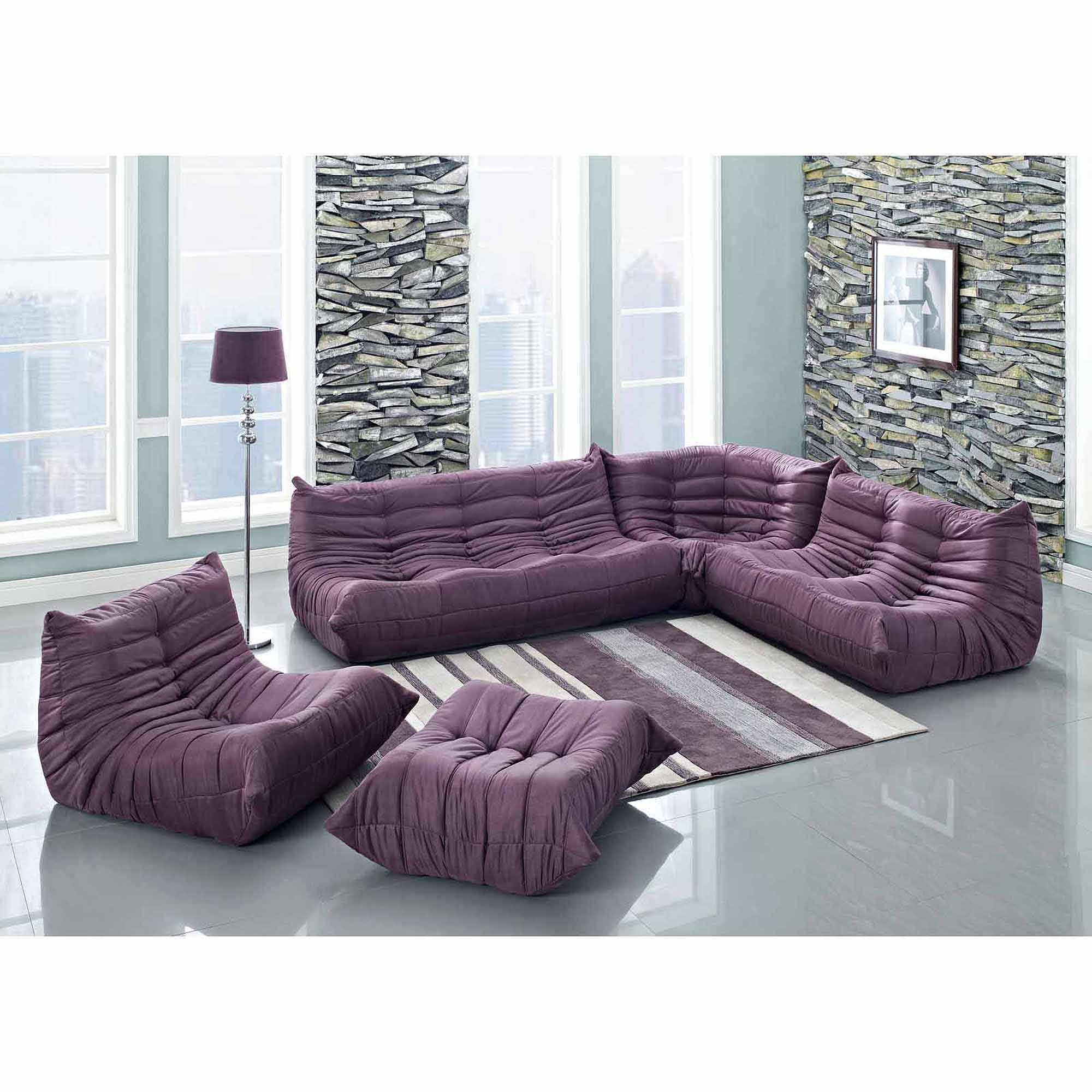 Sofas Center : Alan White Sofa And Purple Loveseatt Darkctional with regard to Eggplant Sectional Sofa (Image 21 of 30)
